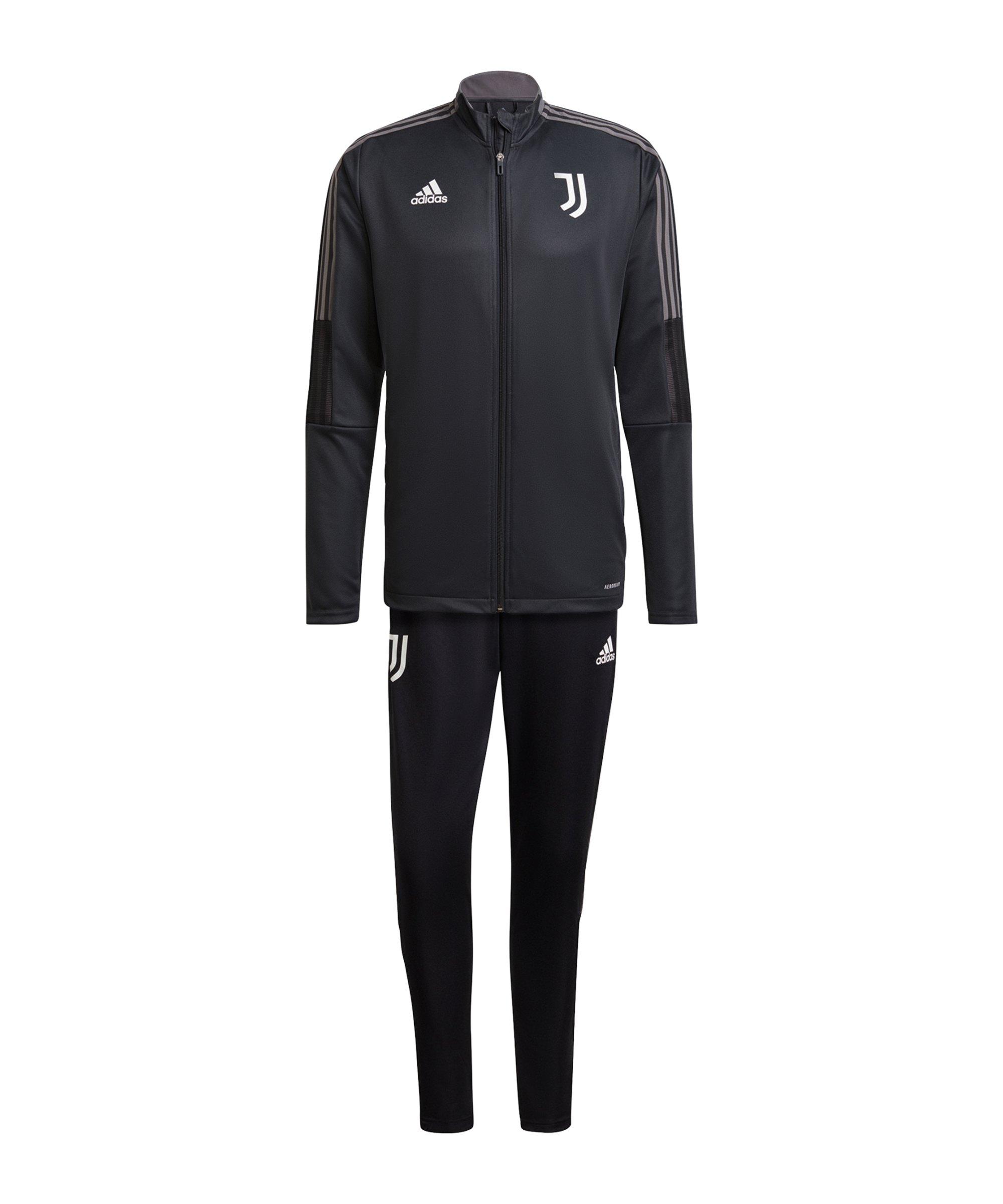 adidas Juventus Turin Trainingsanzug Grau - grau