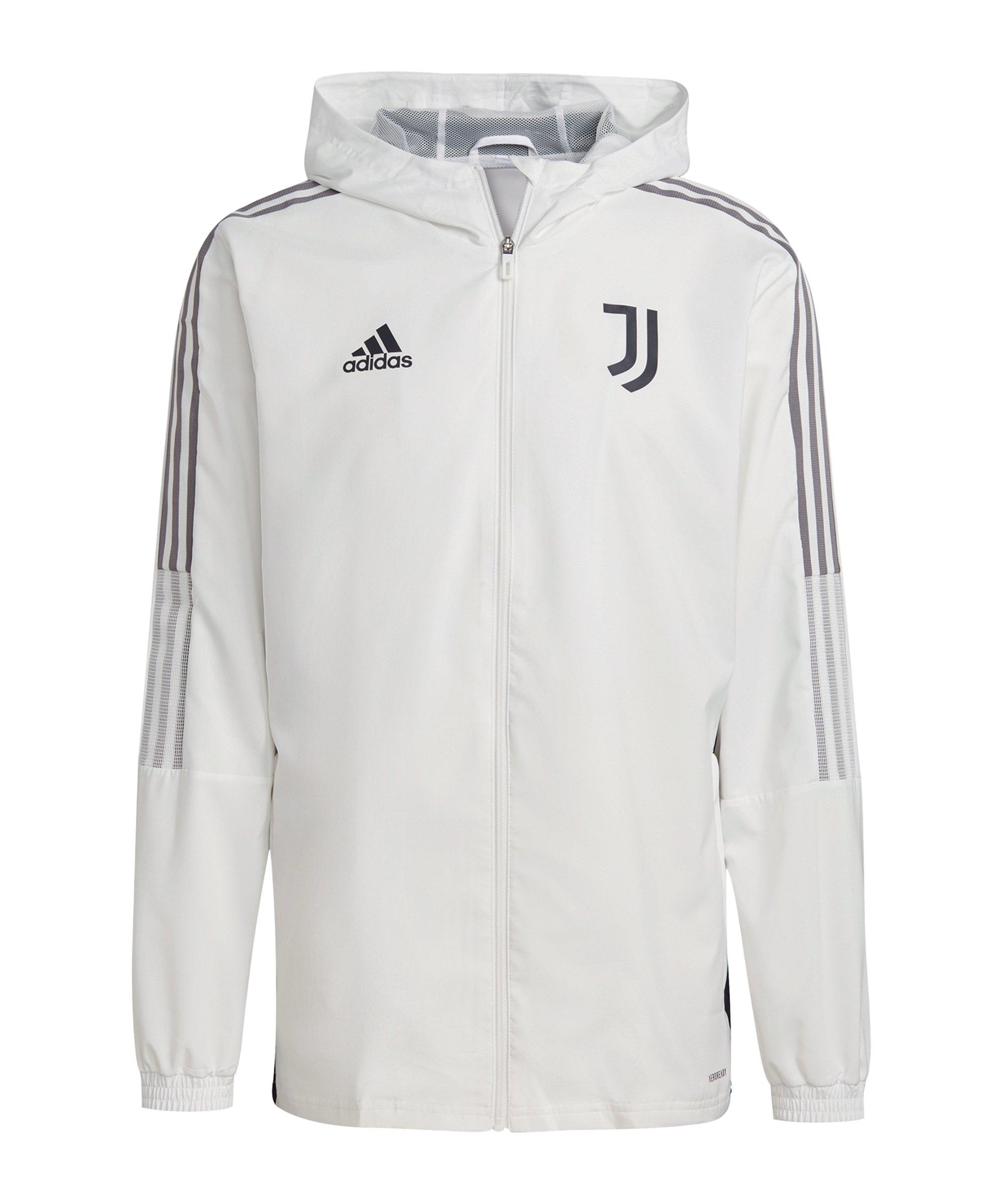 adidas Juventus Turin Prematch Jacke 2021/2022 Weiss - weiss