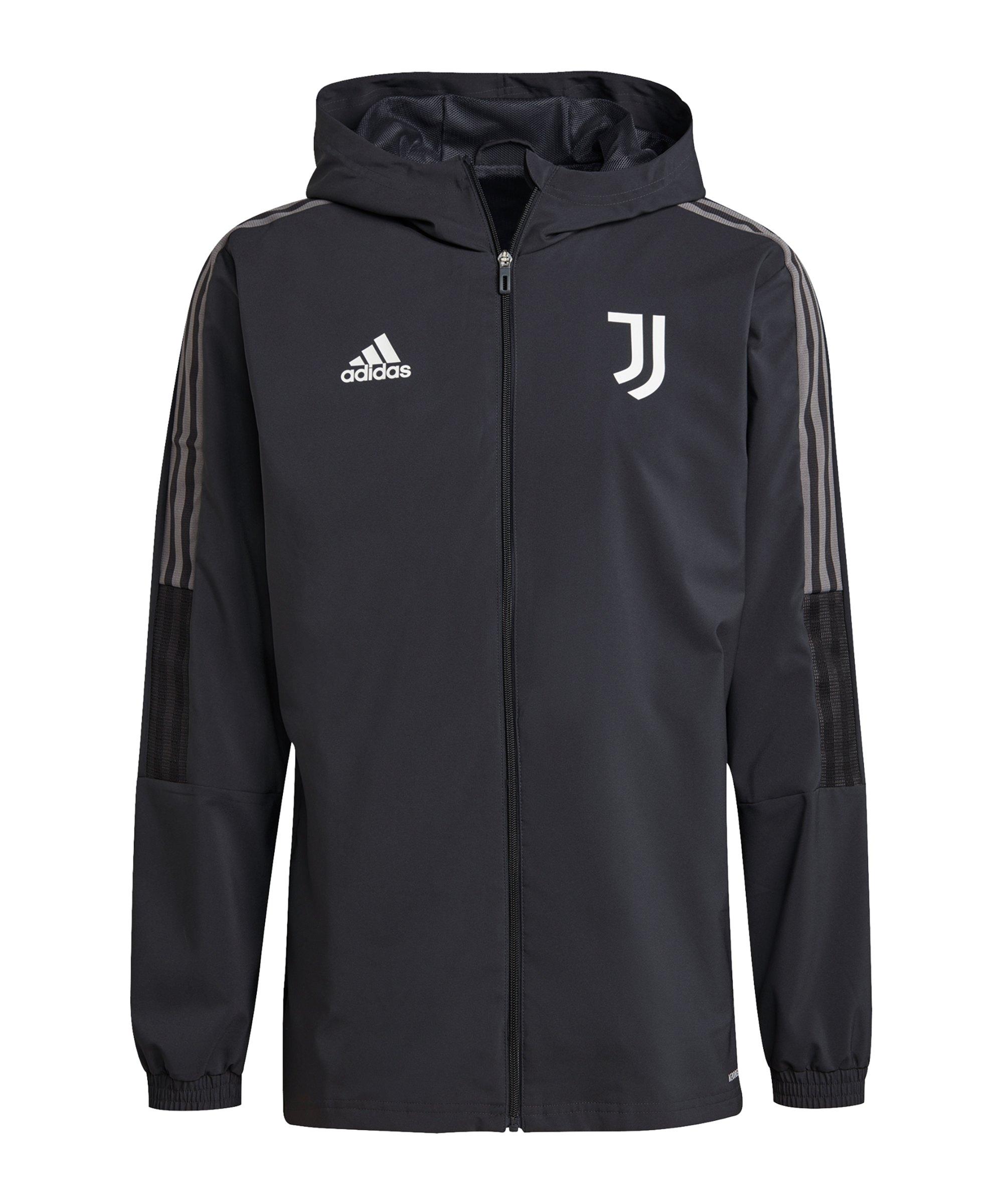 adidas Juventus Turin Prematch Jacke 2021/2022 Grau - grau