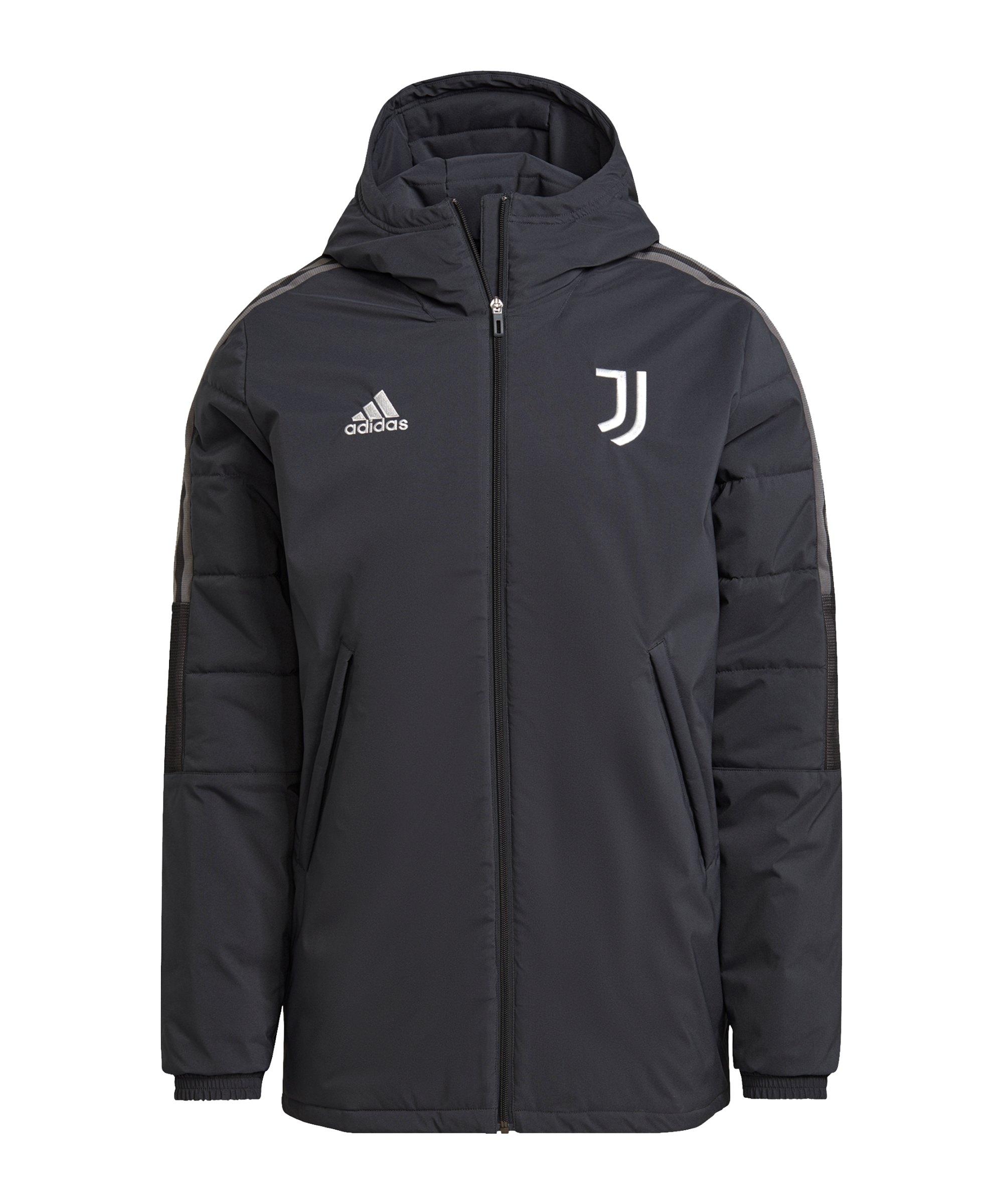 adidas Juventus Turin Winterjacke Grau - grau
