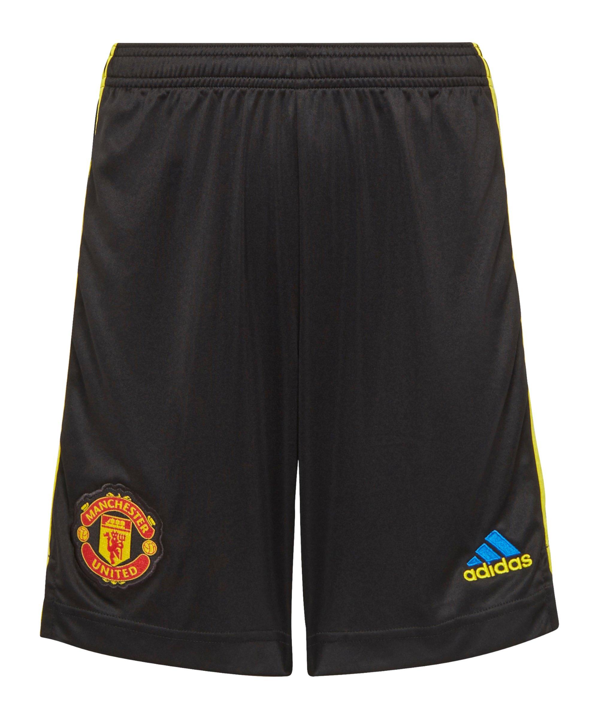 adidas Manchester United Short UCL 2021/2022 Kids Schwarz - schwarz