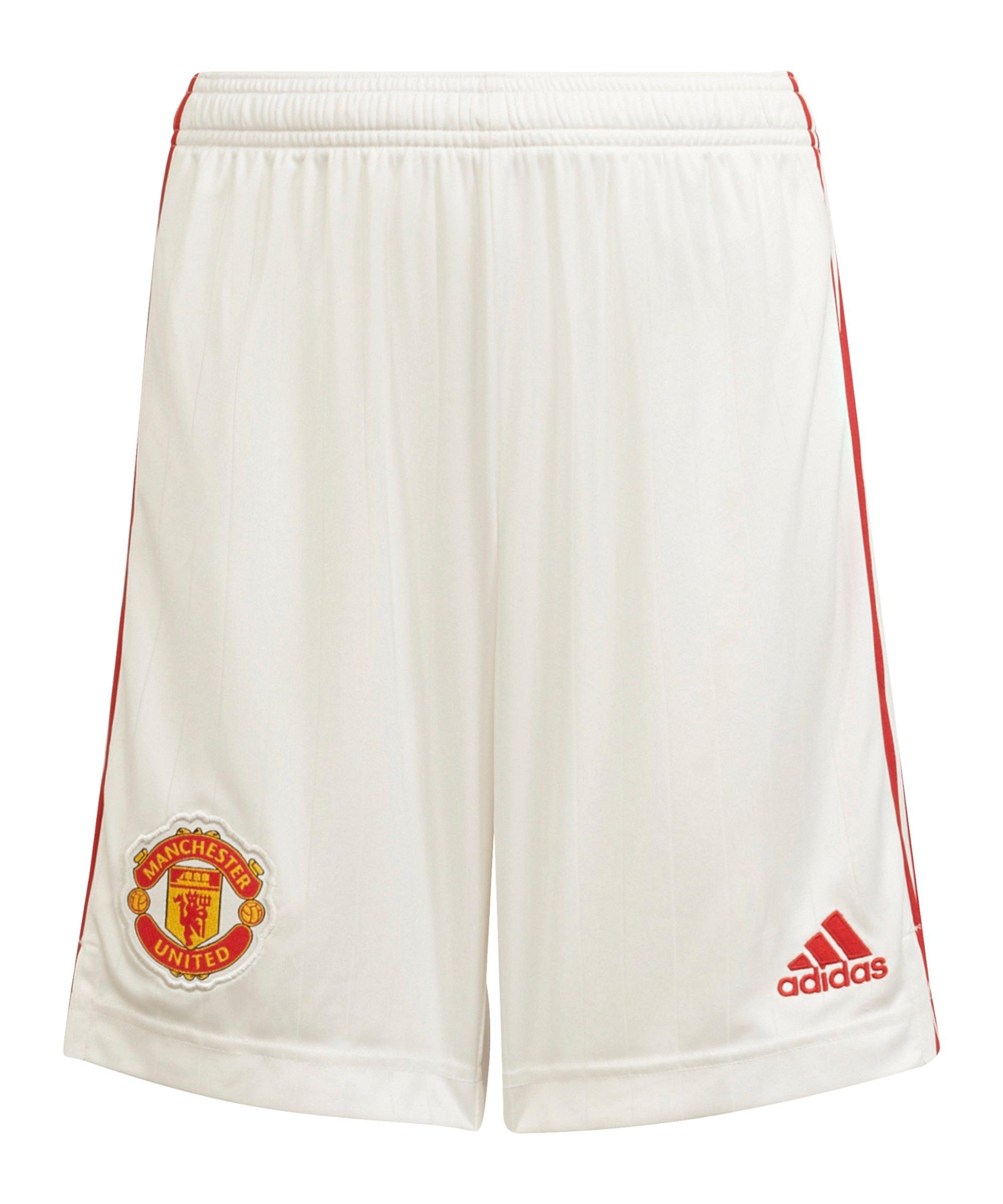 adidas Manchester United Short Home 2021/2022 Kids Weiss - weiss