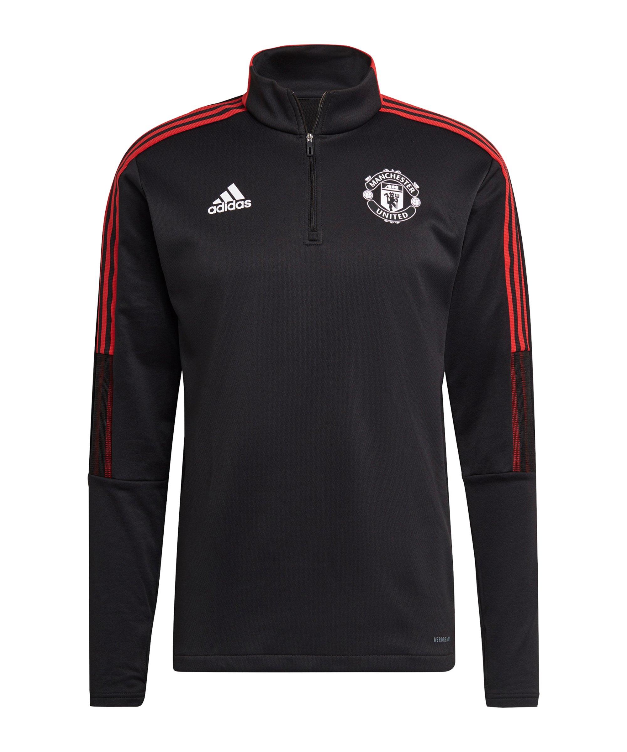 adidas Manchester United Warm-Top Schwarz - schwarz