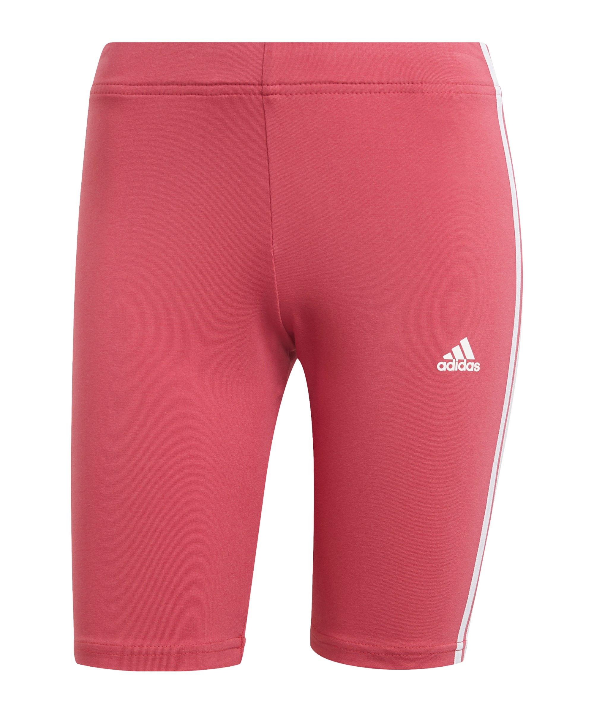 adidas Essentials Bike Shorts Damen Pink Weiss - pink