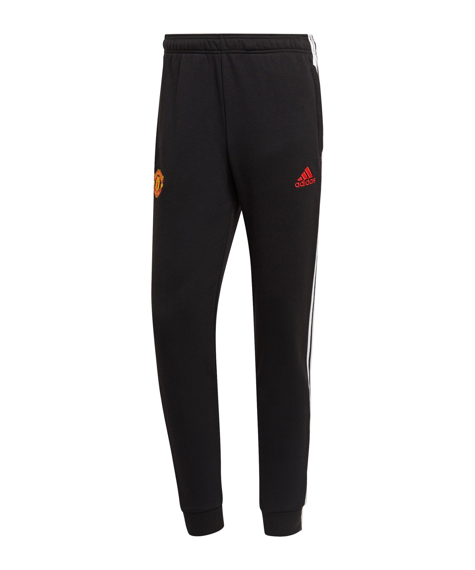 adidas Manchester United 3S Jogginghose Schwarz - schwarz