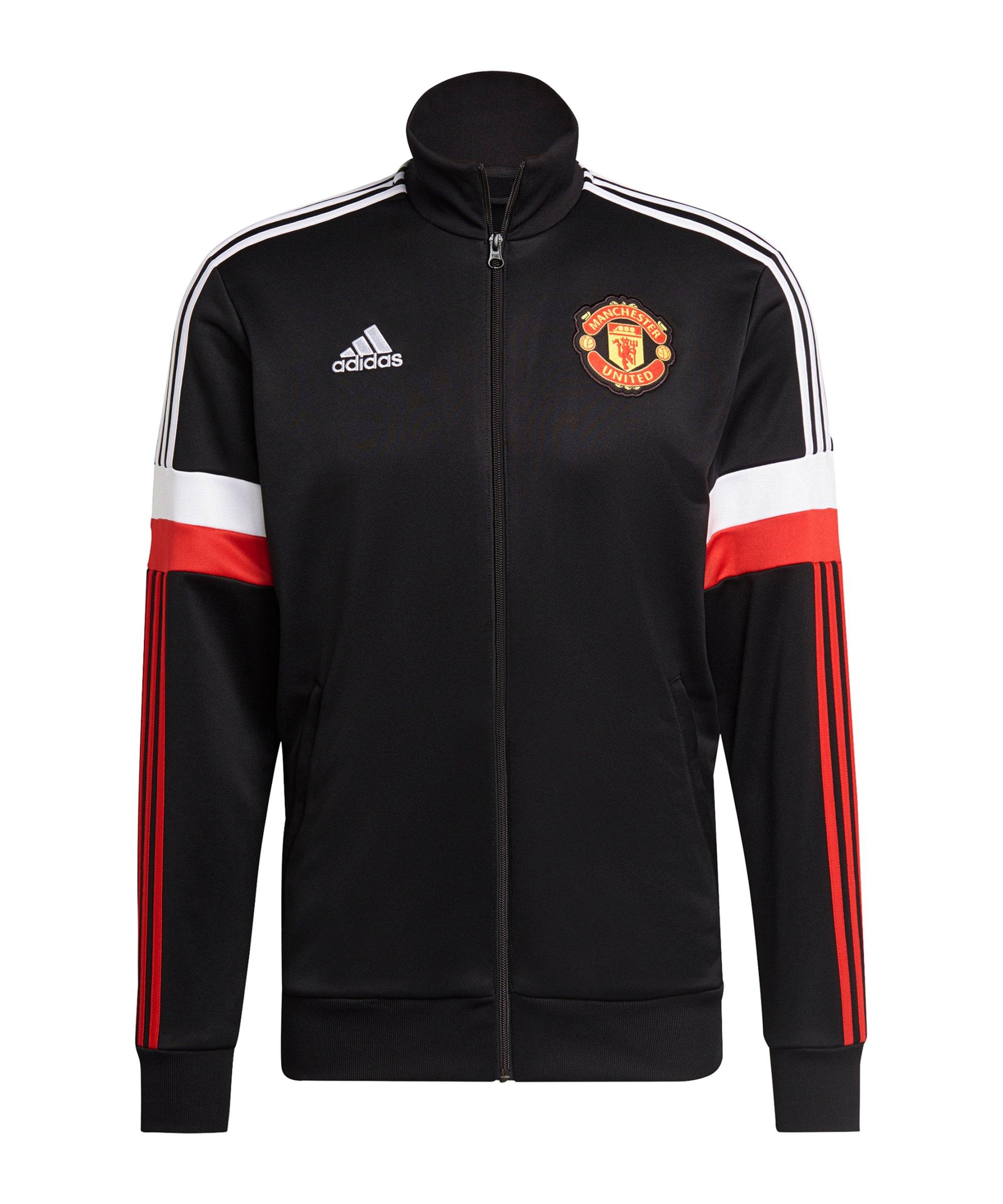 adidas Manchester United 3S Tracktop Jacke Schwarz - schwarz