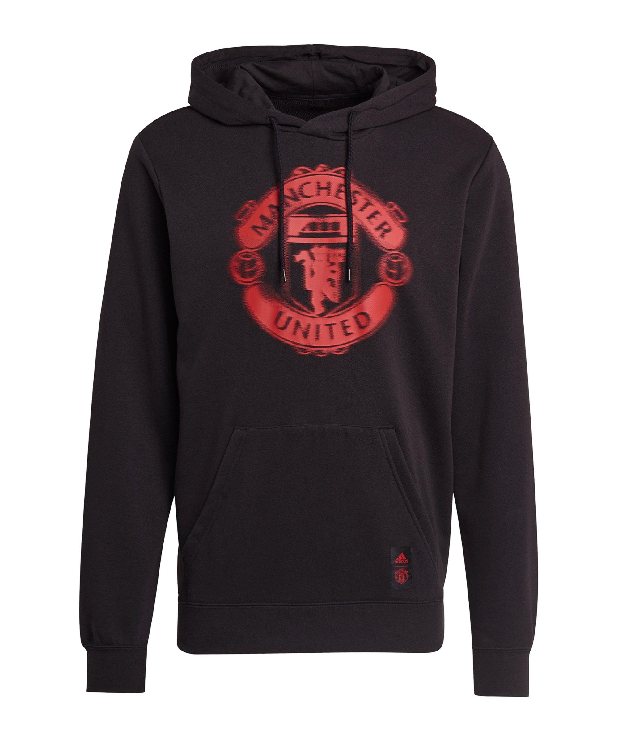 adidas Manchester United Hoody Schwarz - schwarz