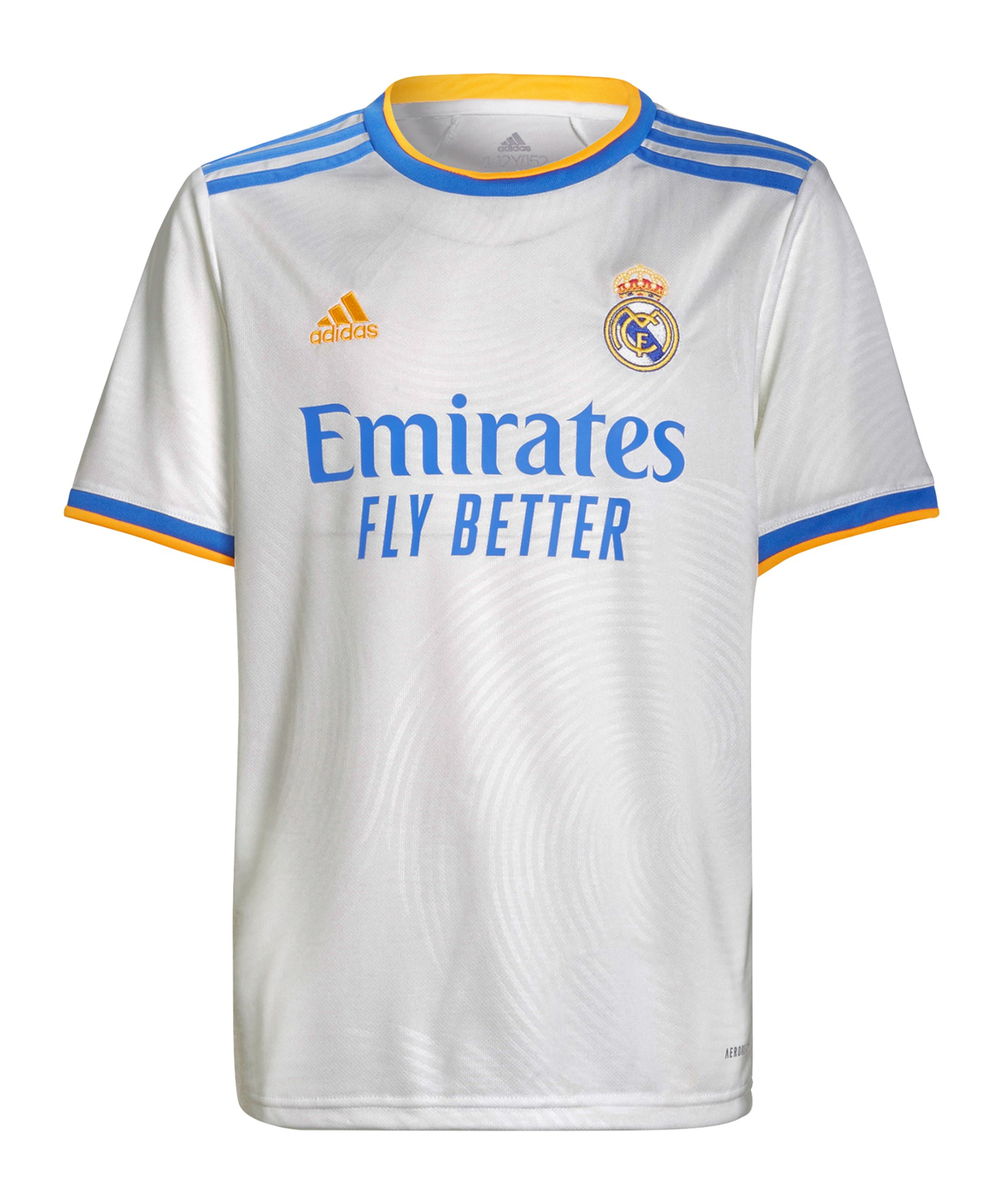 adidas Real Madrid Trikot Home 2021/2022 Kids Weiss - weiss