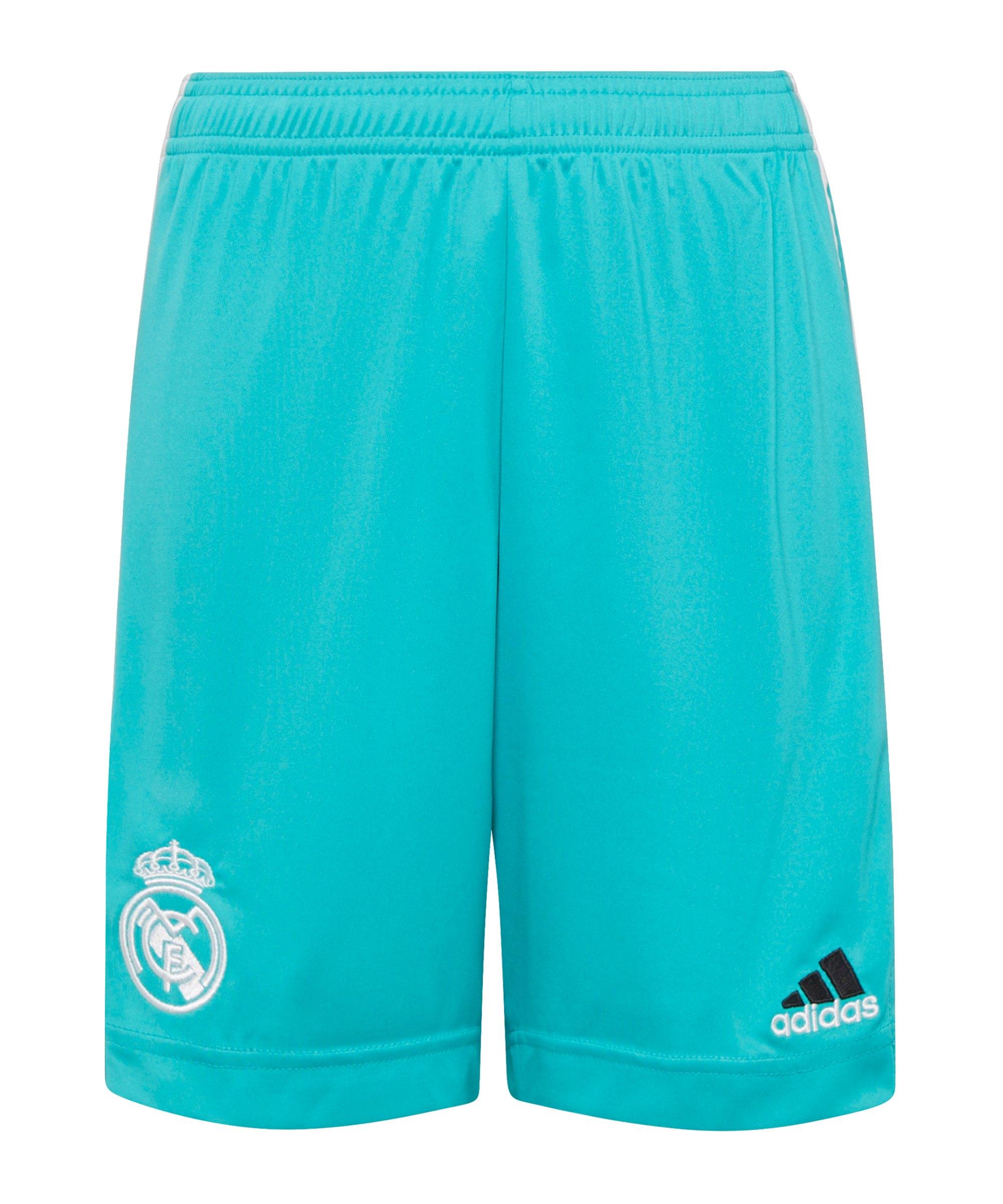 adidas Real Madrid Short 3rd 2021/2022 Kids Grün - gruen