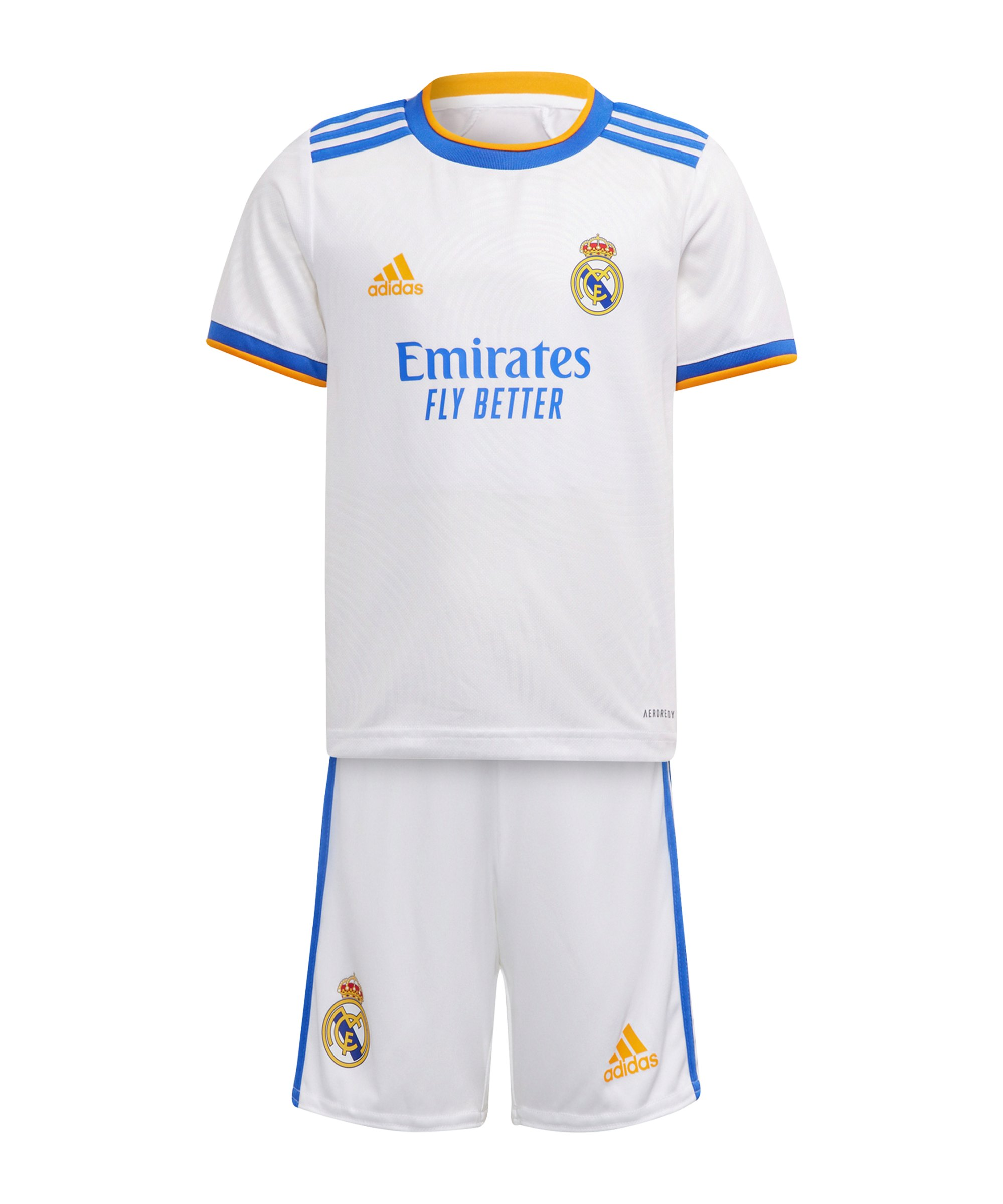 adidas Real Madrid Minikit Home 2021/2022 Weiss - weiss