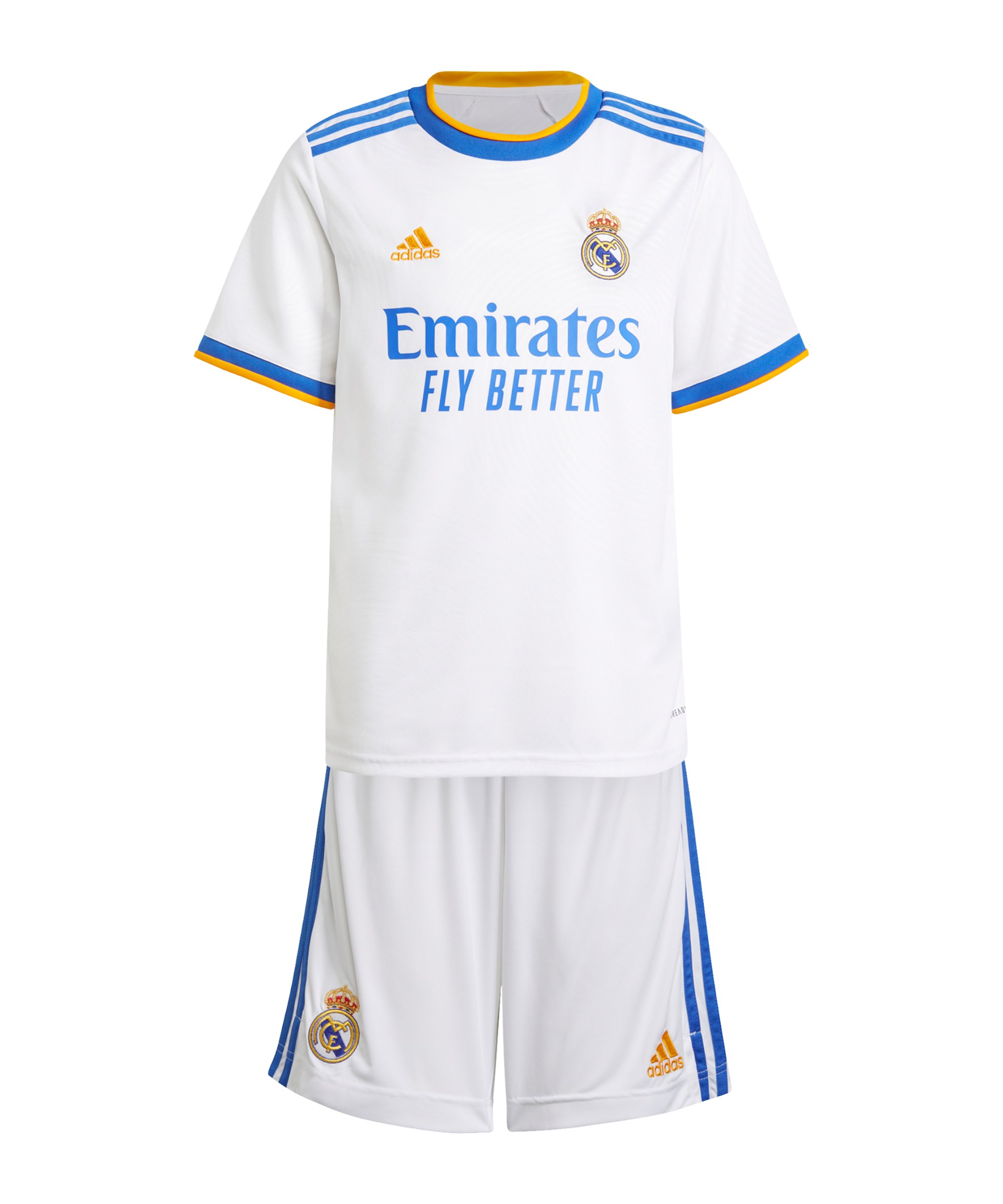 adidas Real Madrid Kinder Kit Home 2021/2022 Weiss - weiss