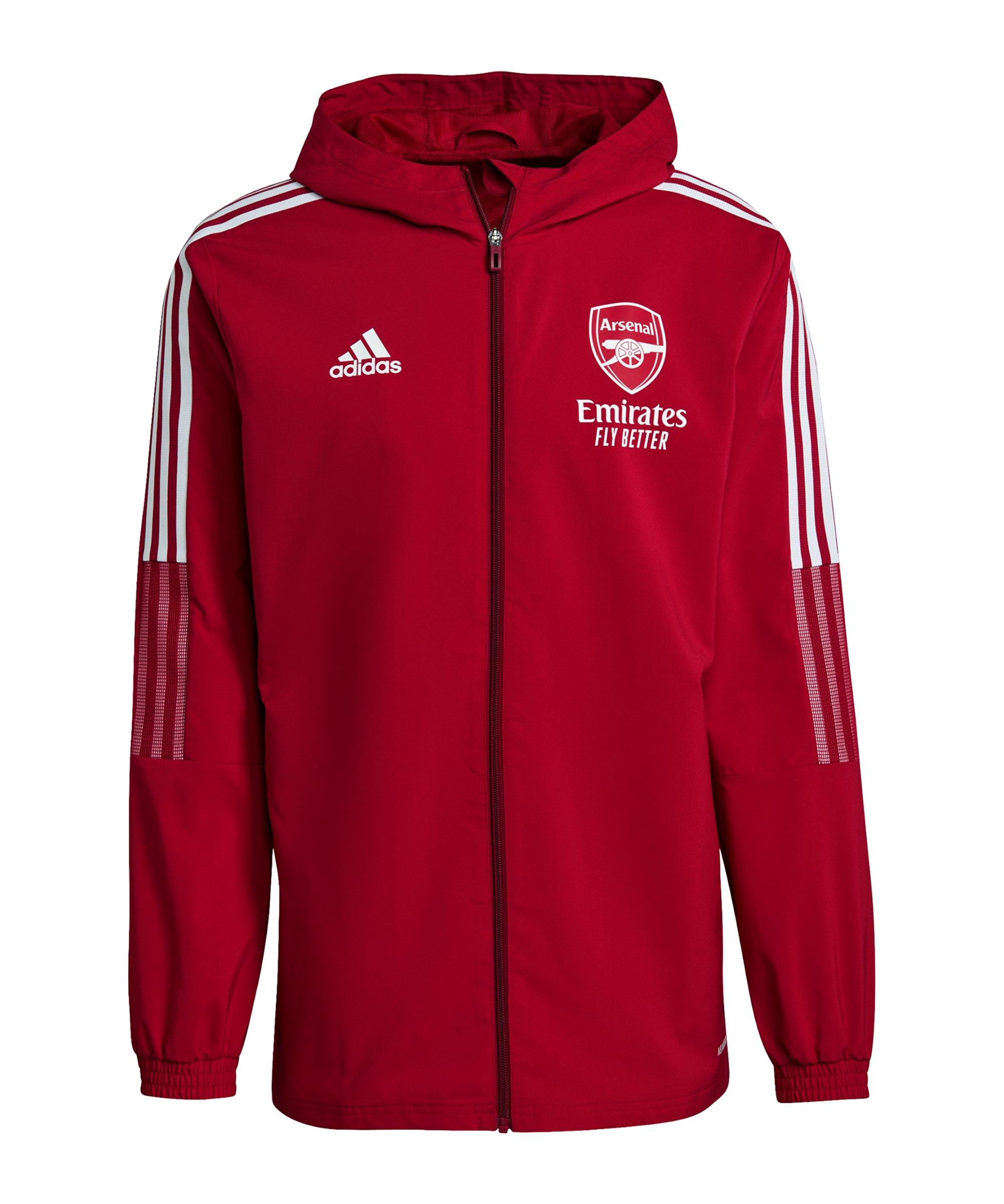 adidas FC Arsenal London Prematch Jacke 2021/2022 Rot - rot