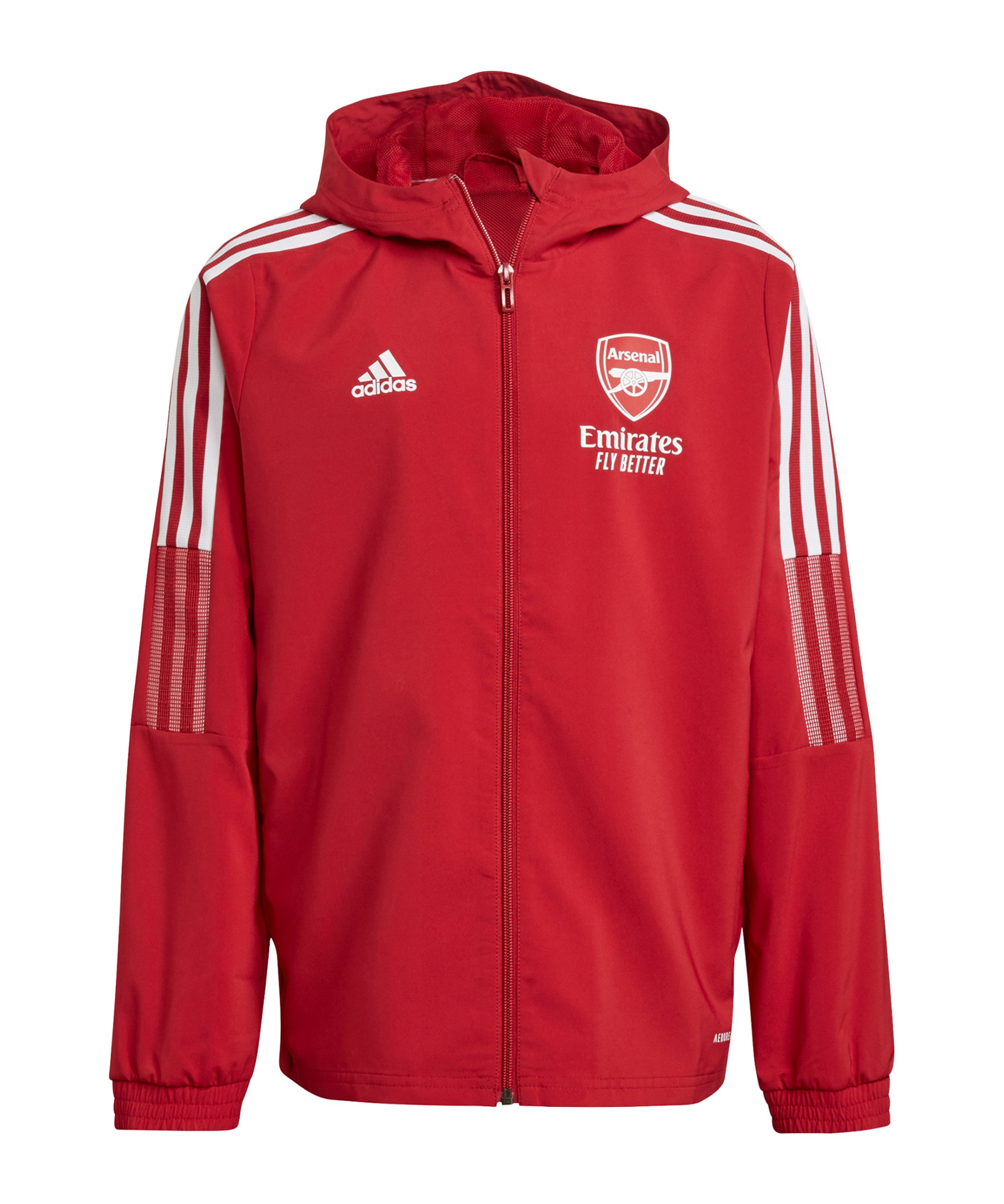 adidas FC Arsenal London Prematch Jacke 2021/2022 Kids Rot - rot