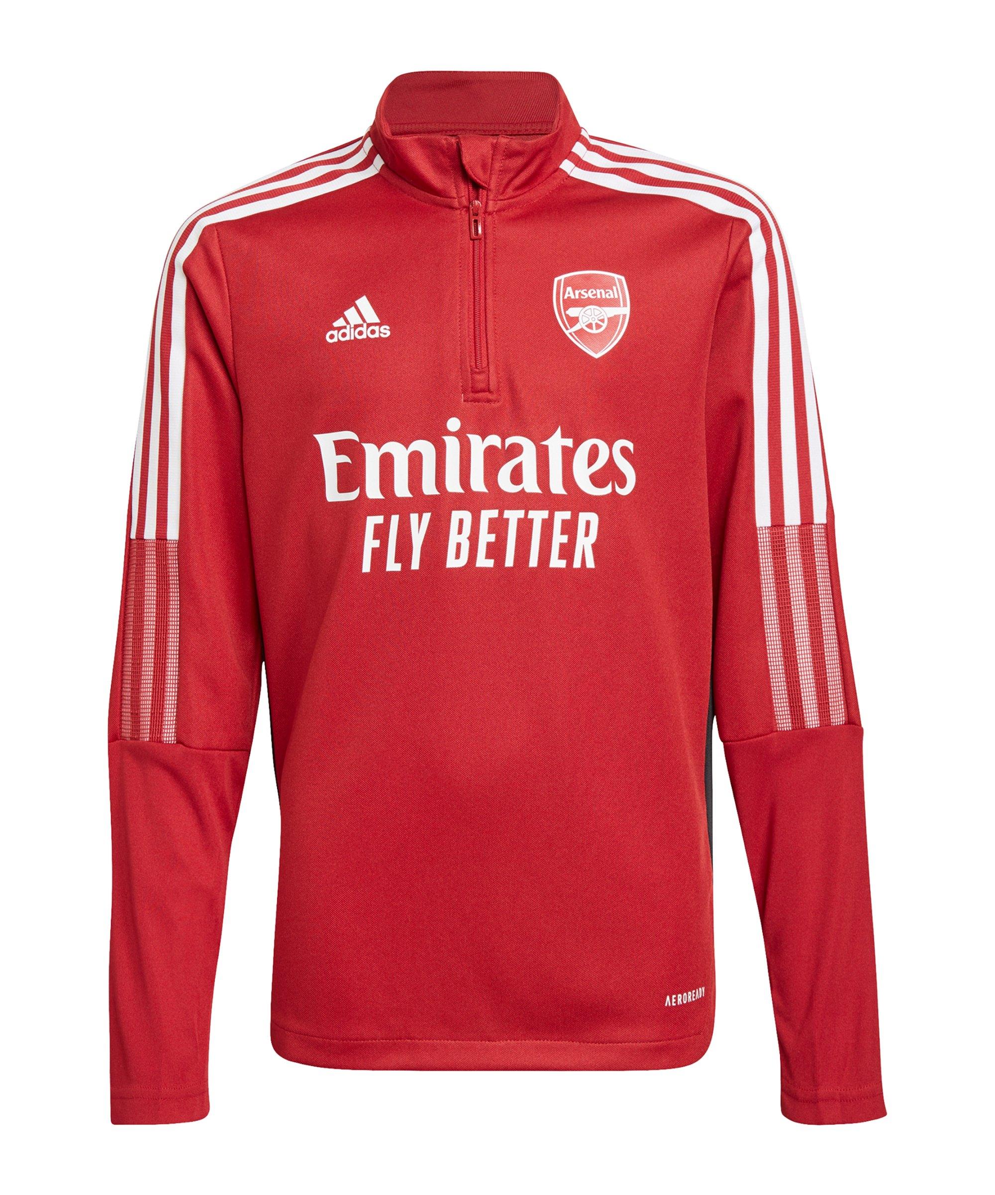 adidas FC Arsenal London HalfZip Sweatshirt Kids Rot - rot