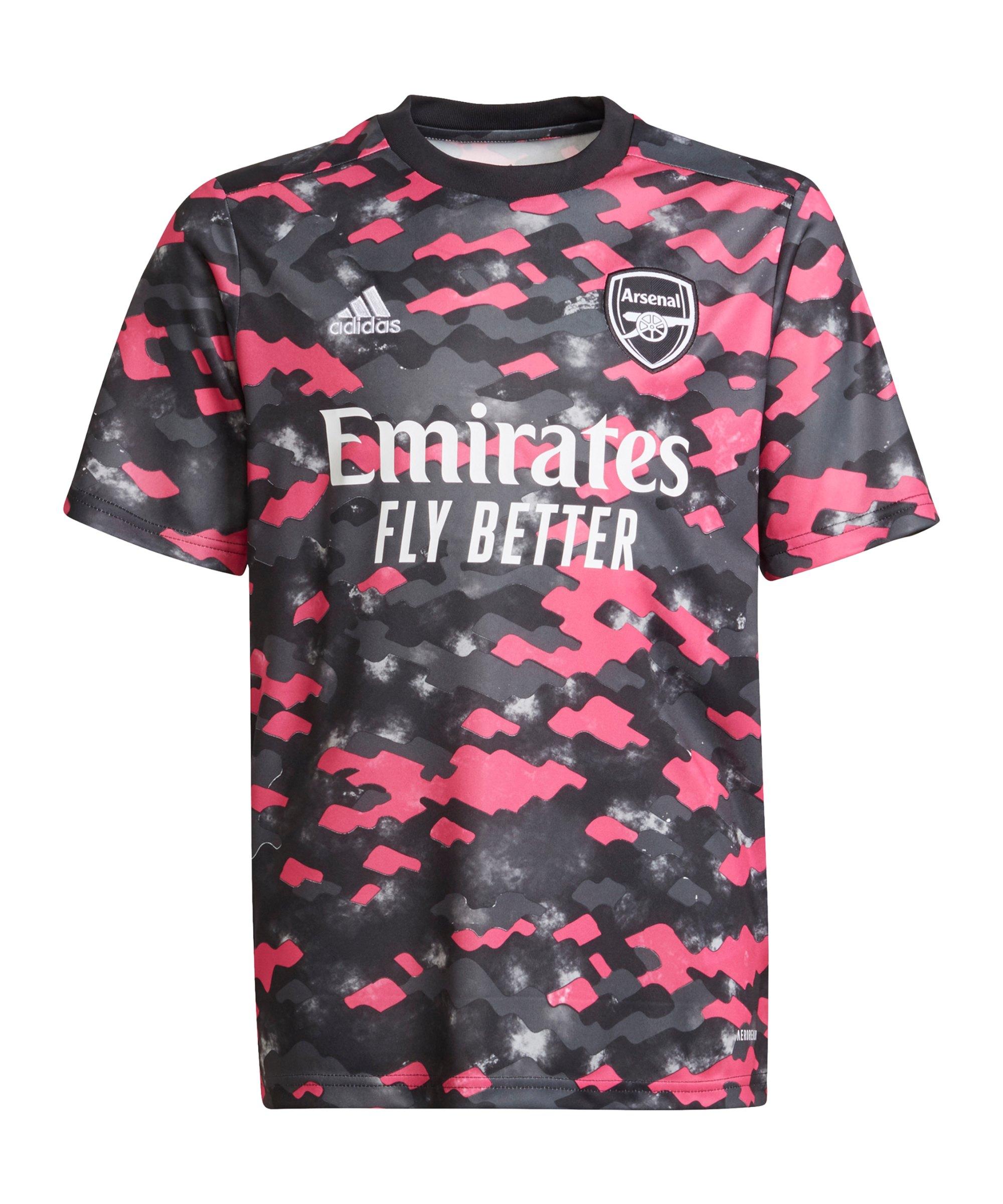 adidas FC Arsenal London Prematch Shirt 2021/2022 Kids Pink Schwarz - pink