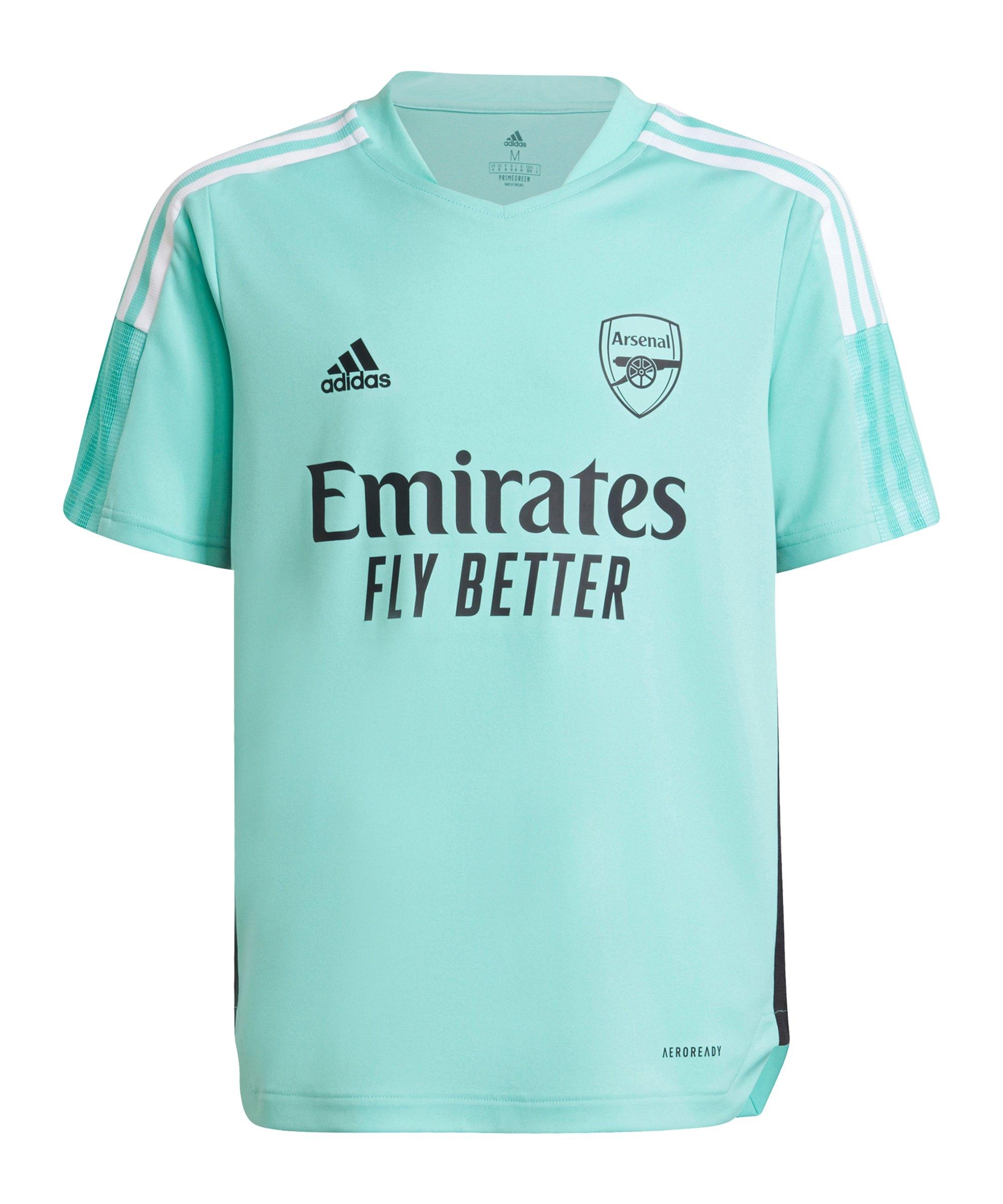 adidas FC Arsenal London Trainingsshirt Kids Grün - gruen