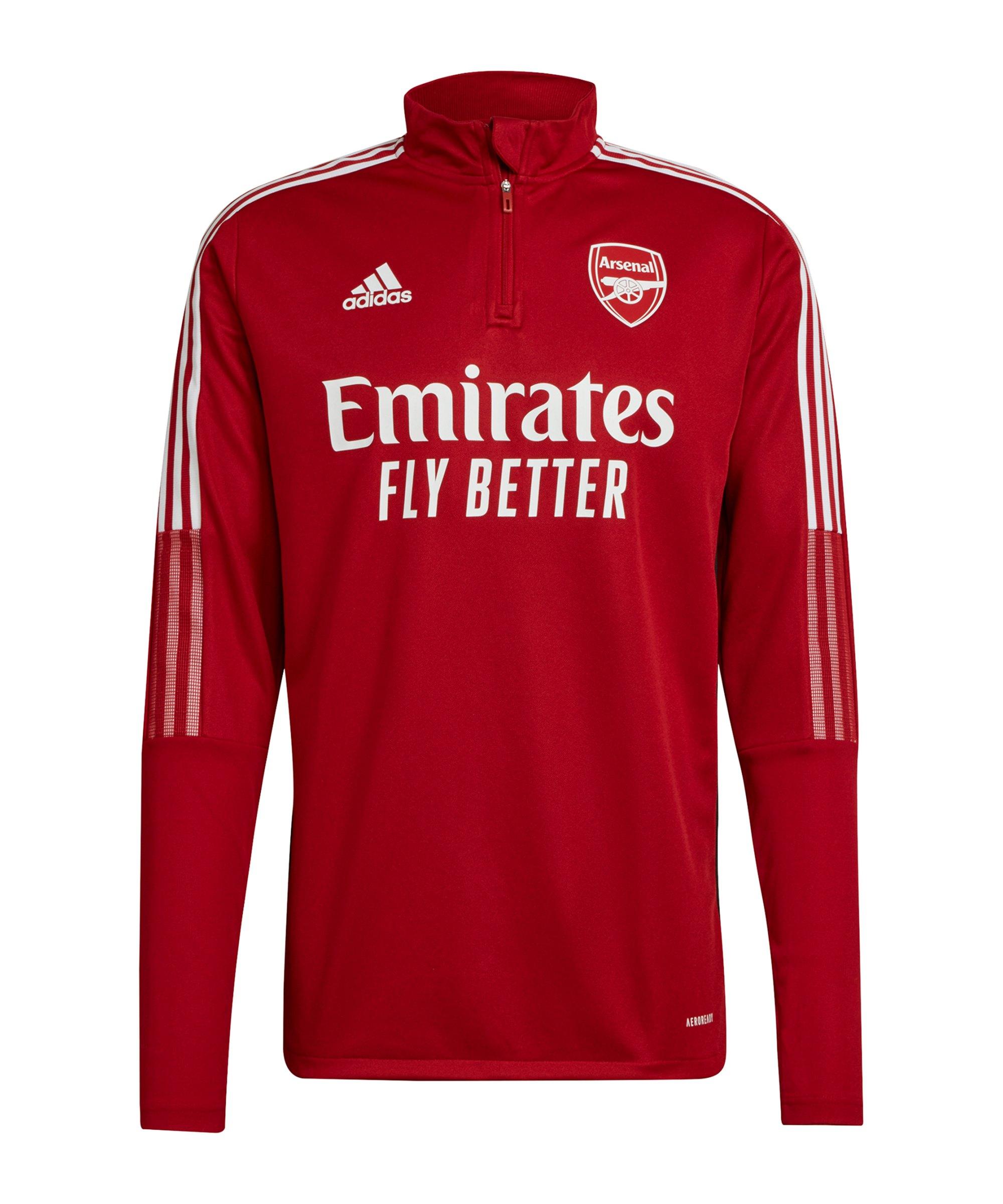 adidas FC Arsenal London HalfZip Sweatshirt Rot - rot