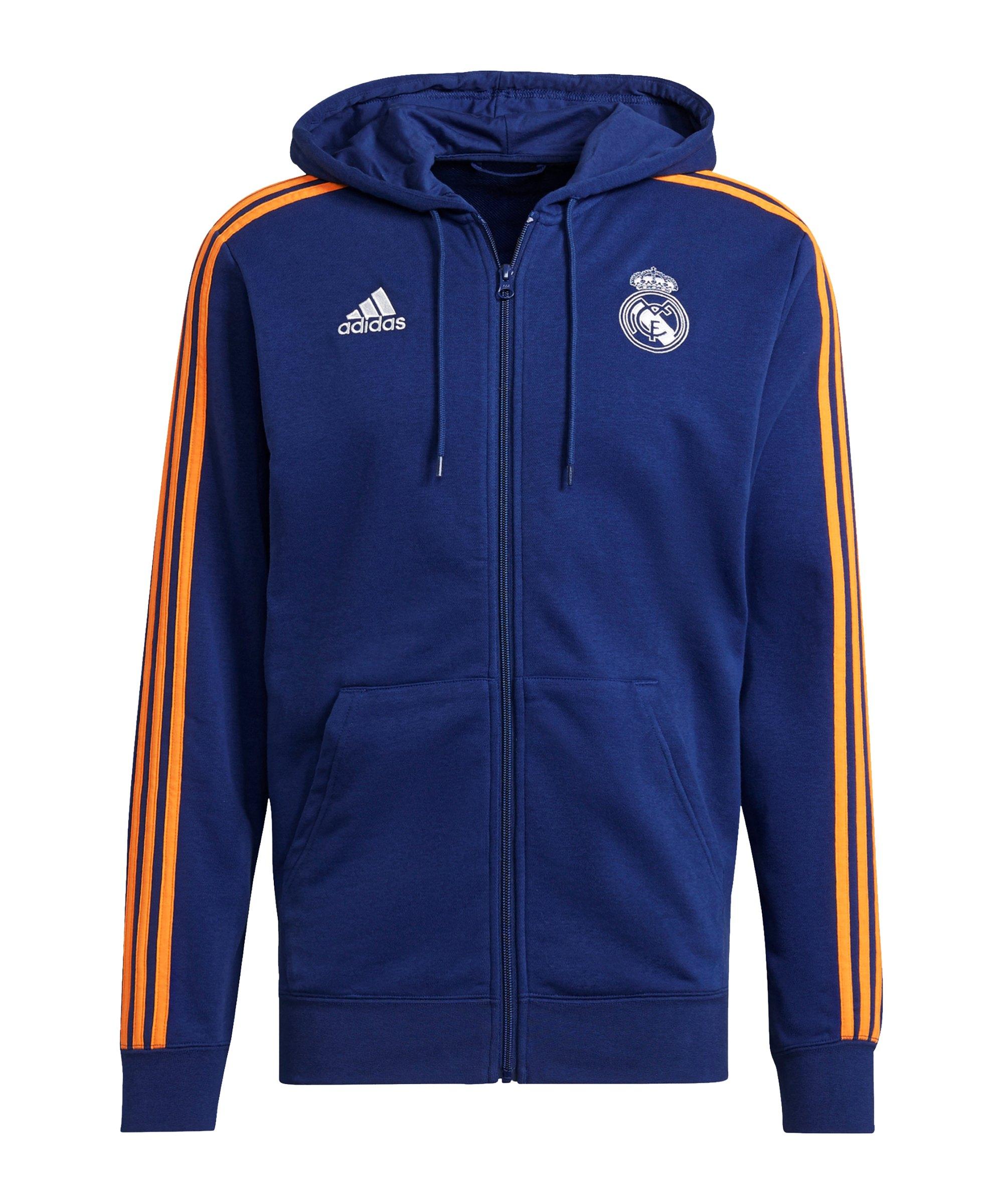 adidas Real Madrid 3S Kapuzenjacke Blau - blau