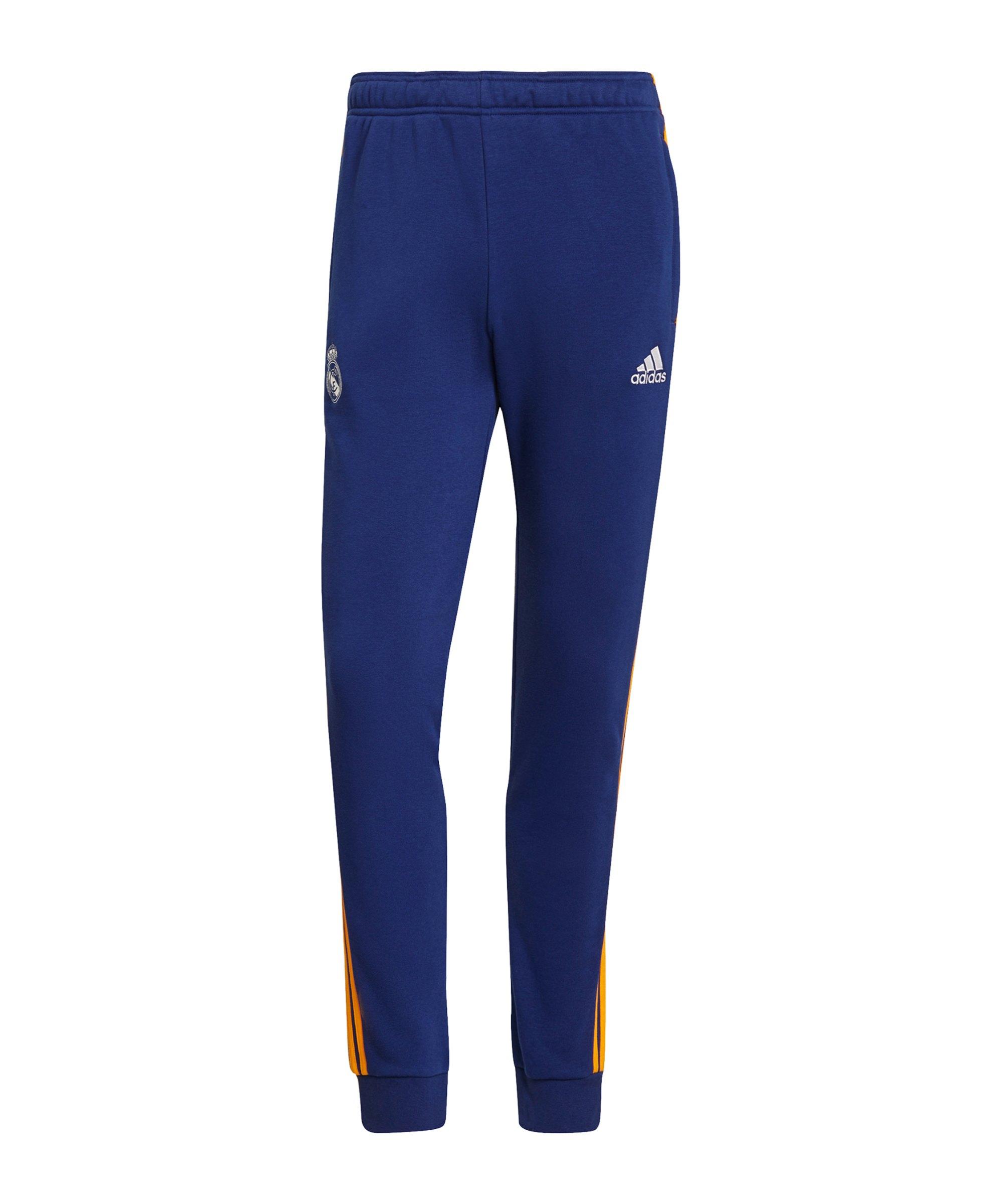 adidas Real Madrid 3S Jogginghose Blau - blau