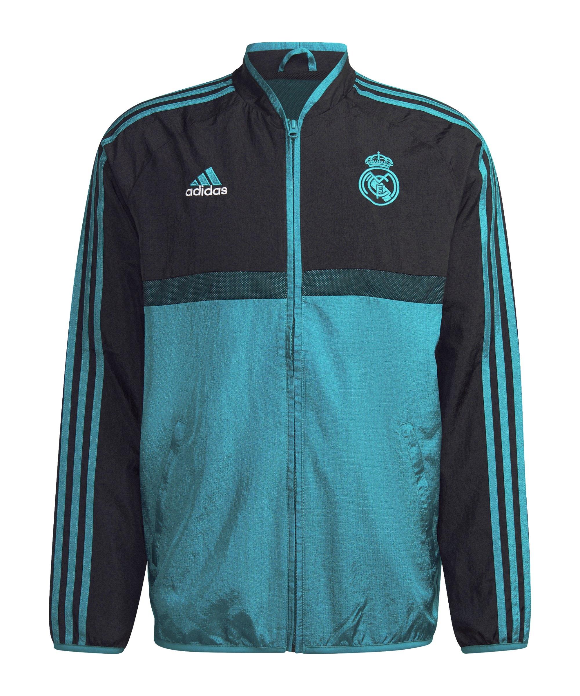 adidas Real Madrid Icon Woven Jacke Schwarz - schwarz