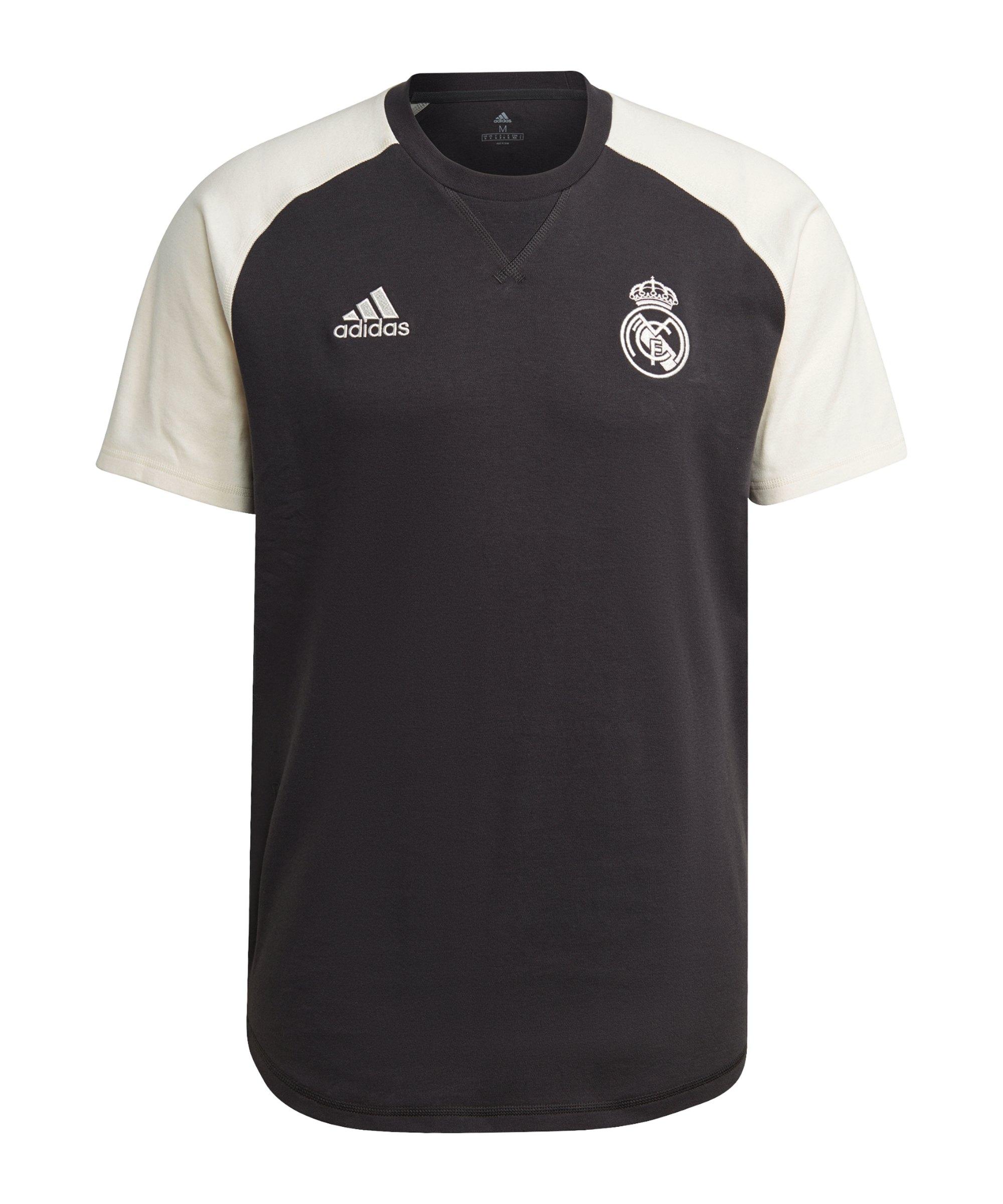 adidas Real Madrid T-Shirt Schwarz - schwarz