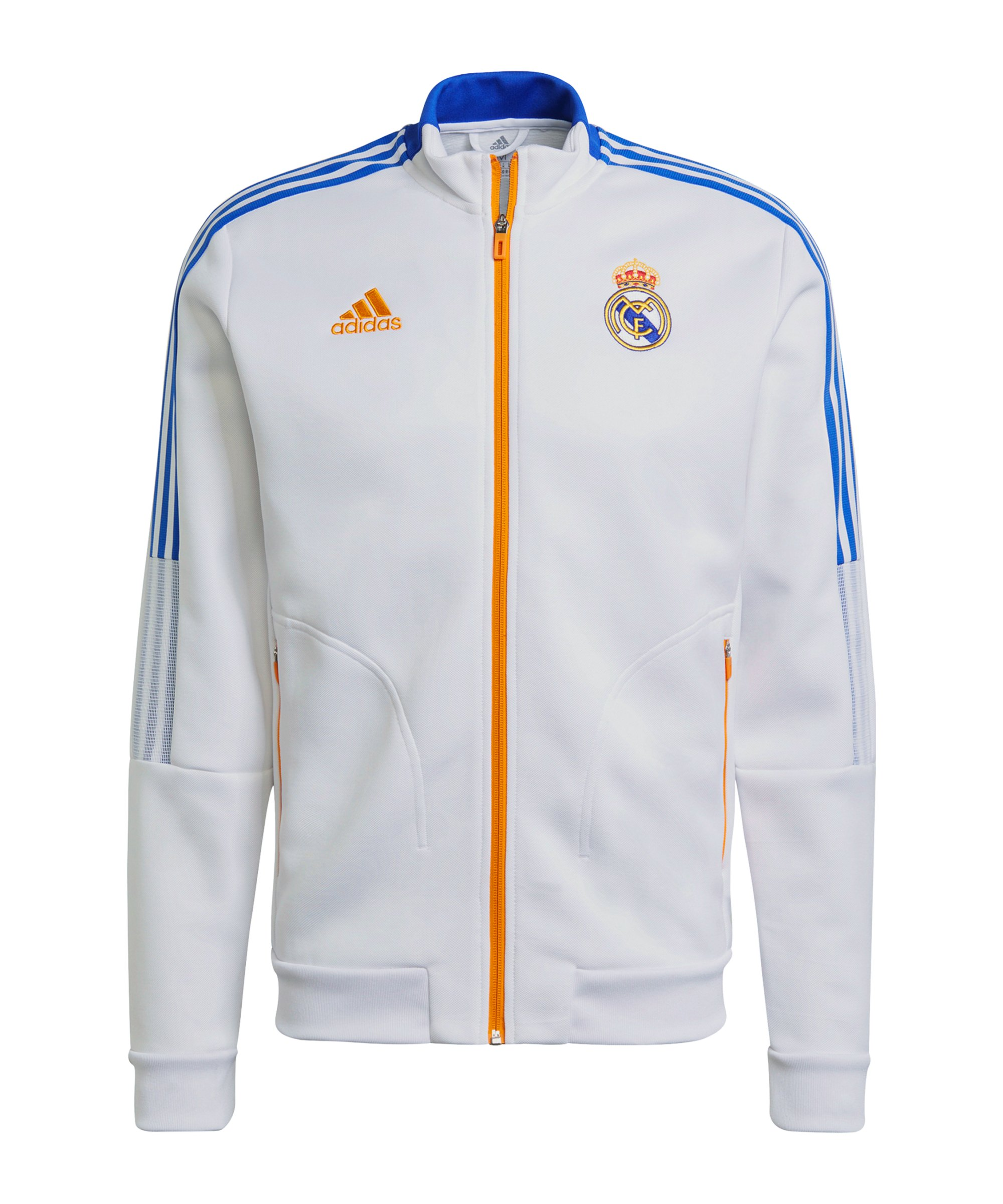 adidas Real Madrid Anthem Jacke Weiss - weiss
