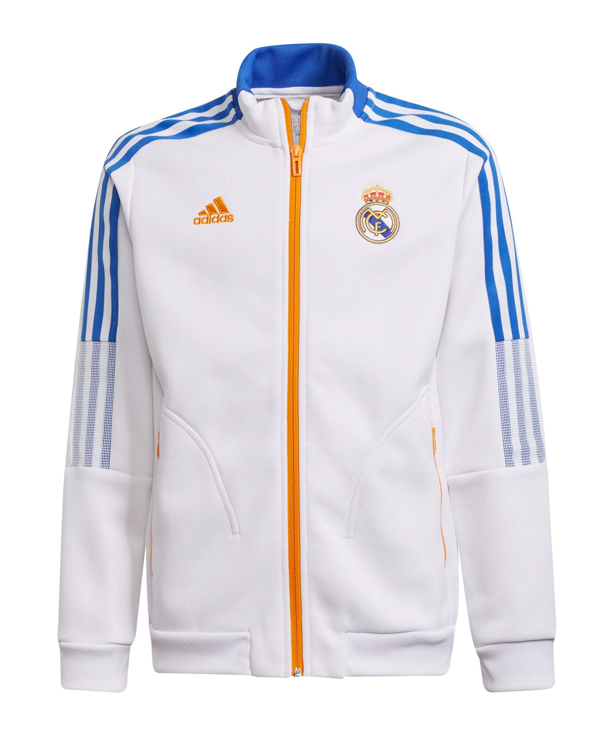 adidas Real Madrid Anthem Jacke Kids Weiss - weiss