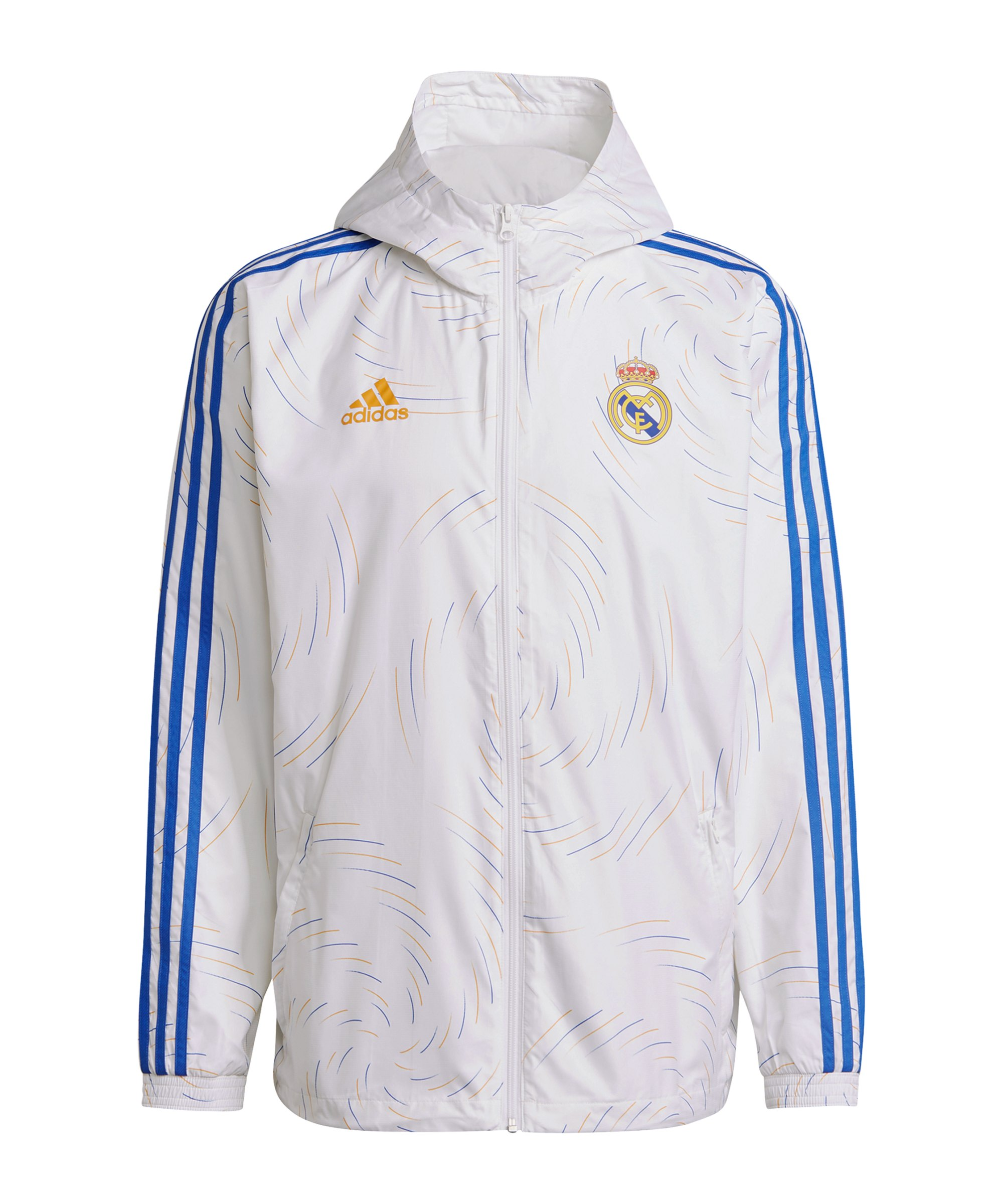 adidas Real Madrid Windbreaker Weiss - weiss