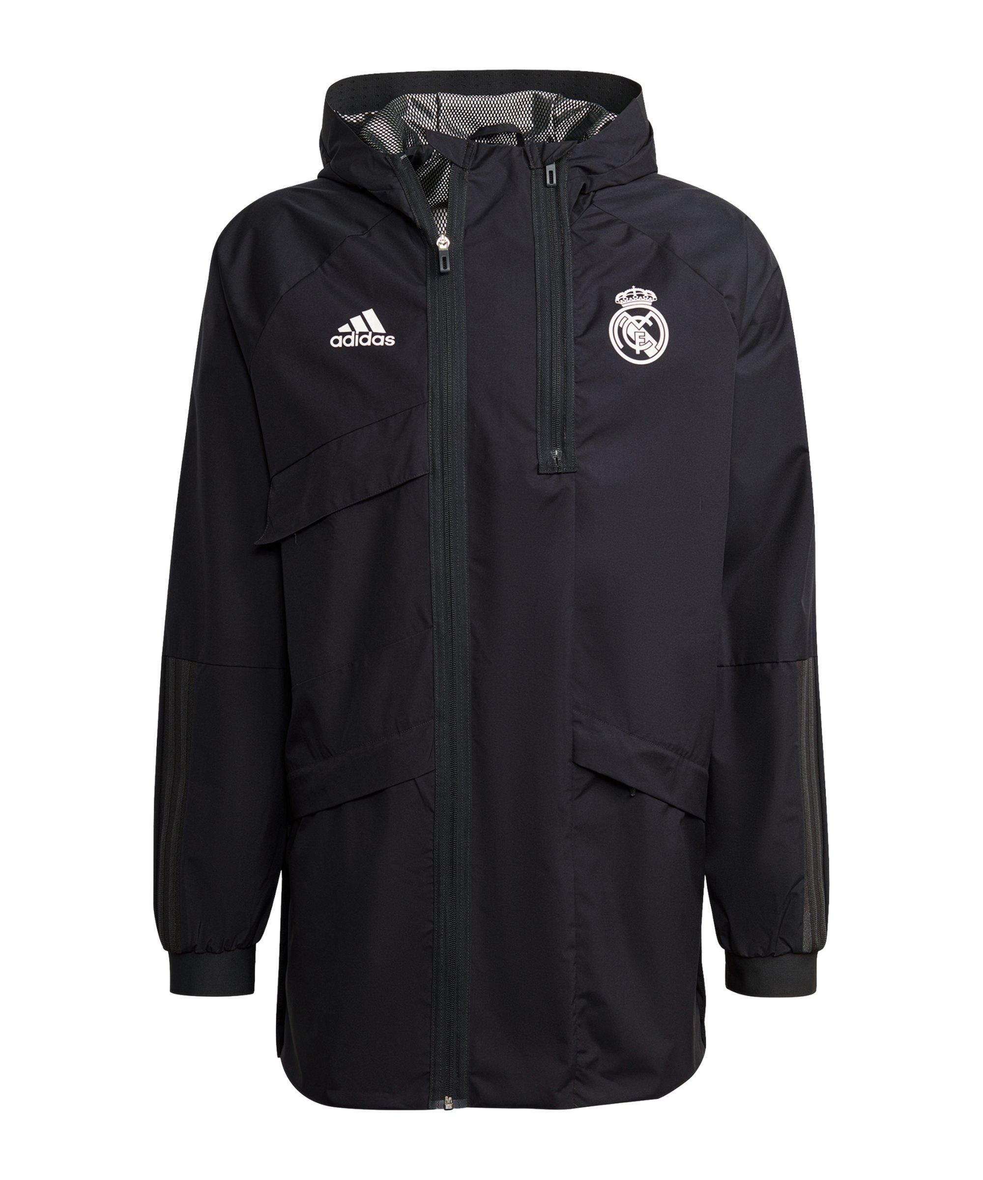 adidas Real Madrid Parka Schwarz - schwarz