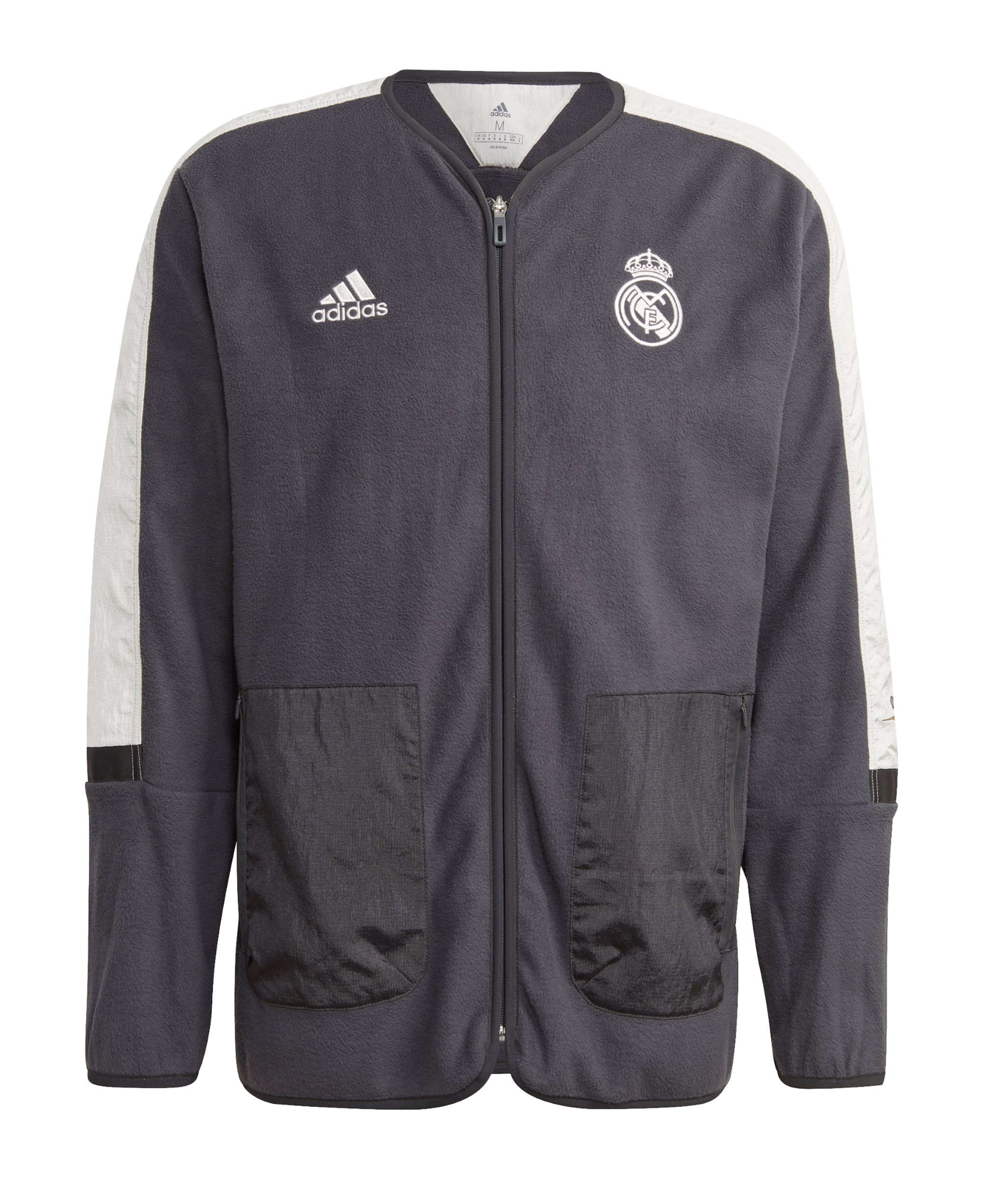 adidas Real Madrid Freizeitjacke Schwarz - schwarz
