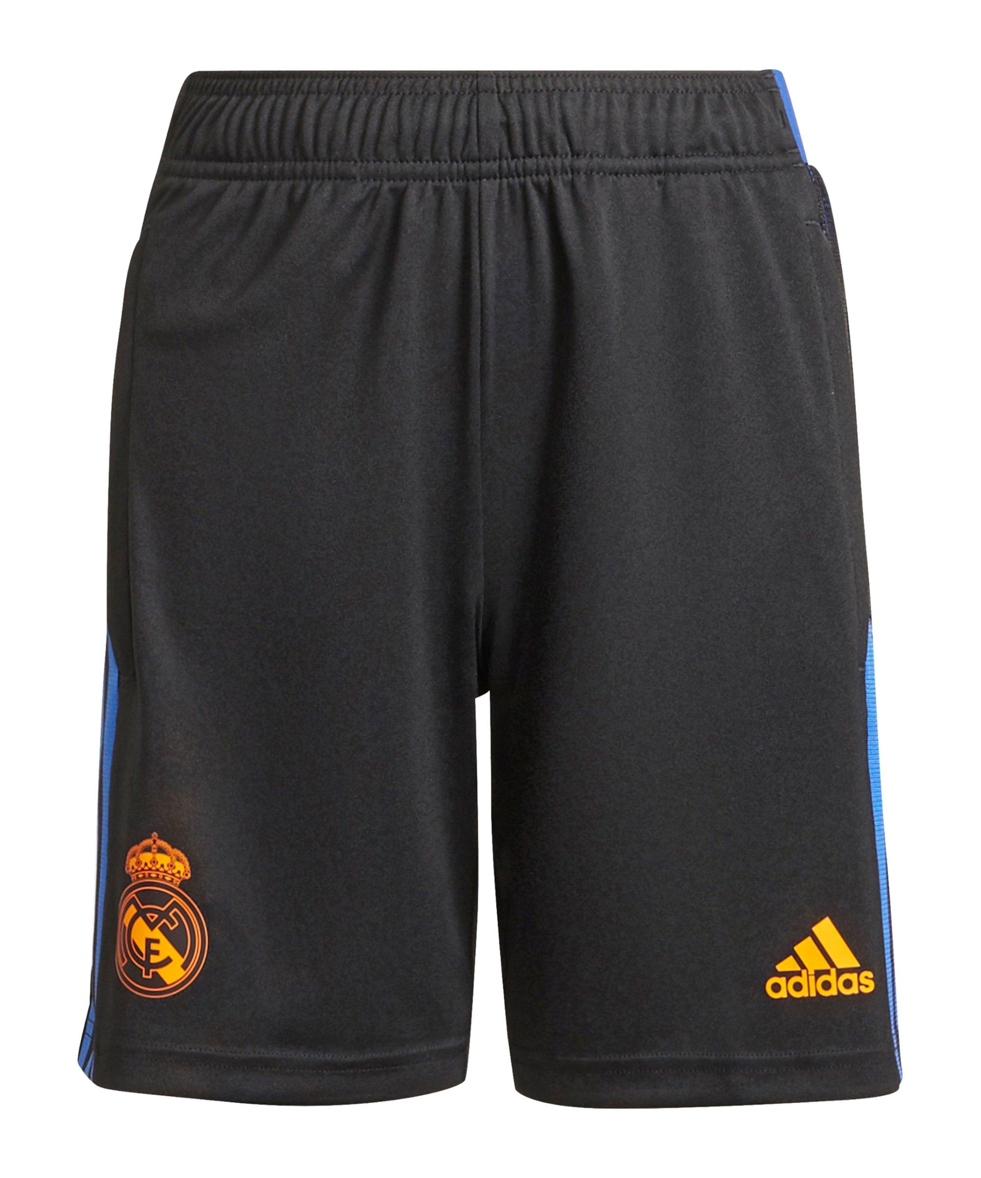 adidas Real Madrid Trainingsshort Kids Schwarz - schwarz