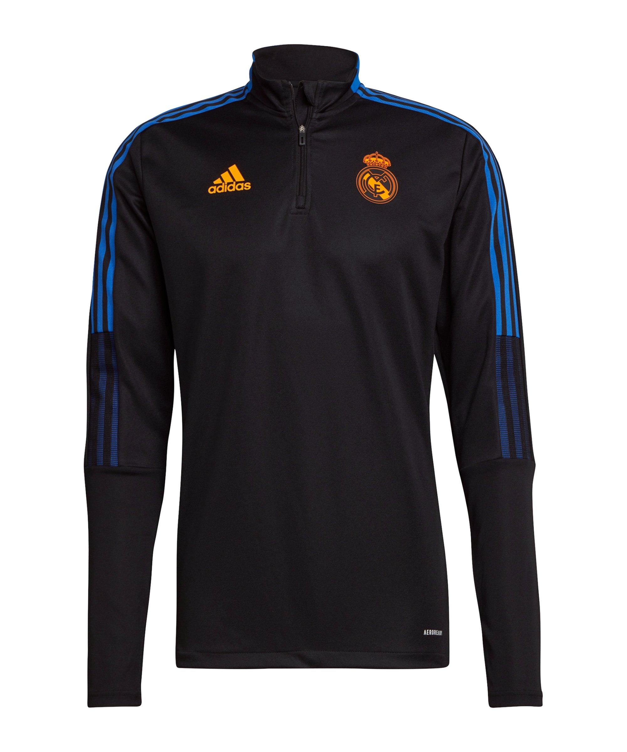 adidas Real Madrid HalfZip Sweatshirt Schwarz - schwarz