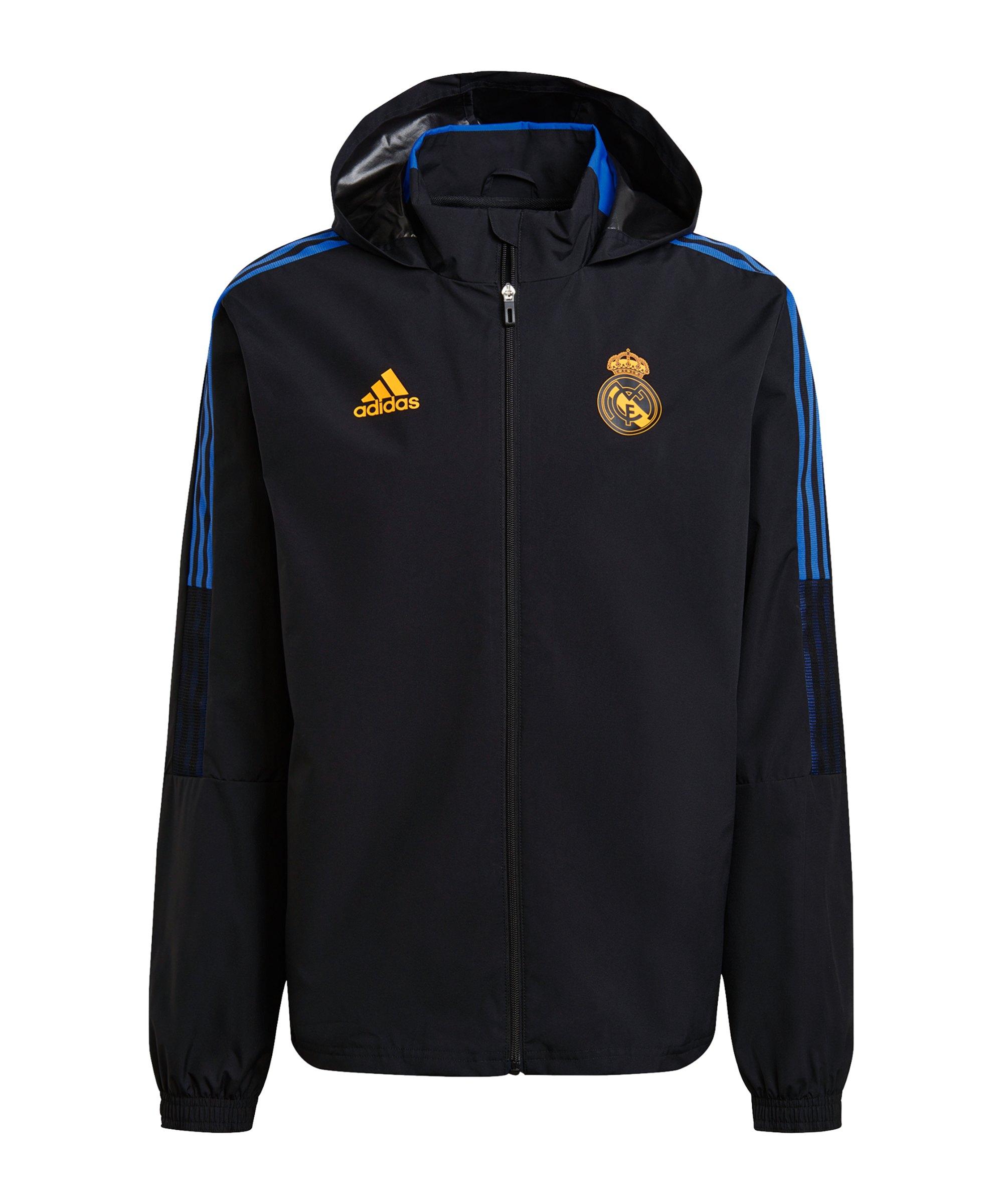 adidas Real Madrid Allwetterjacke Schwarz - schwarz