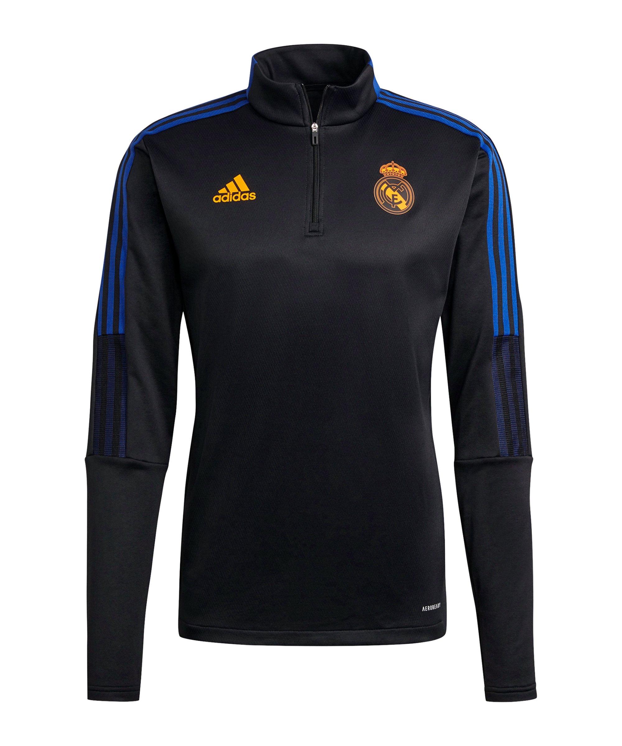 adidas Real Madrid Warm-Top Schwarz - schwarz