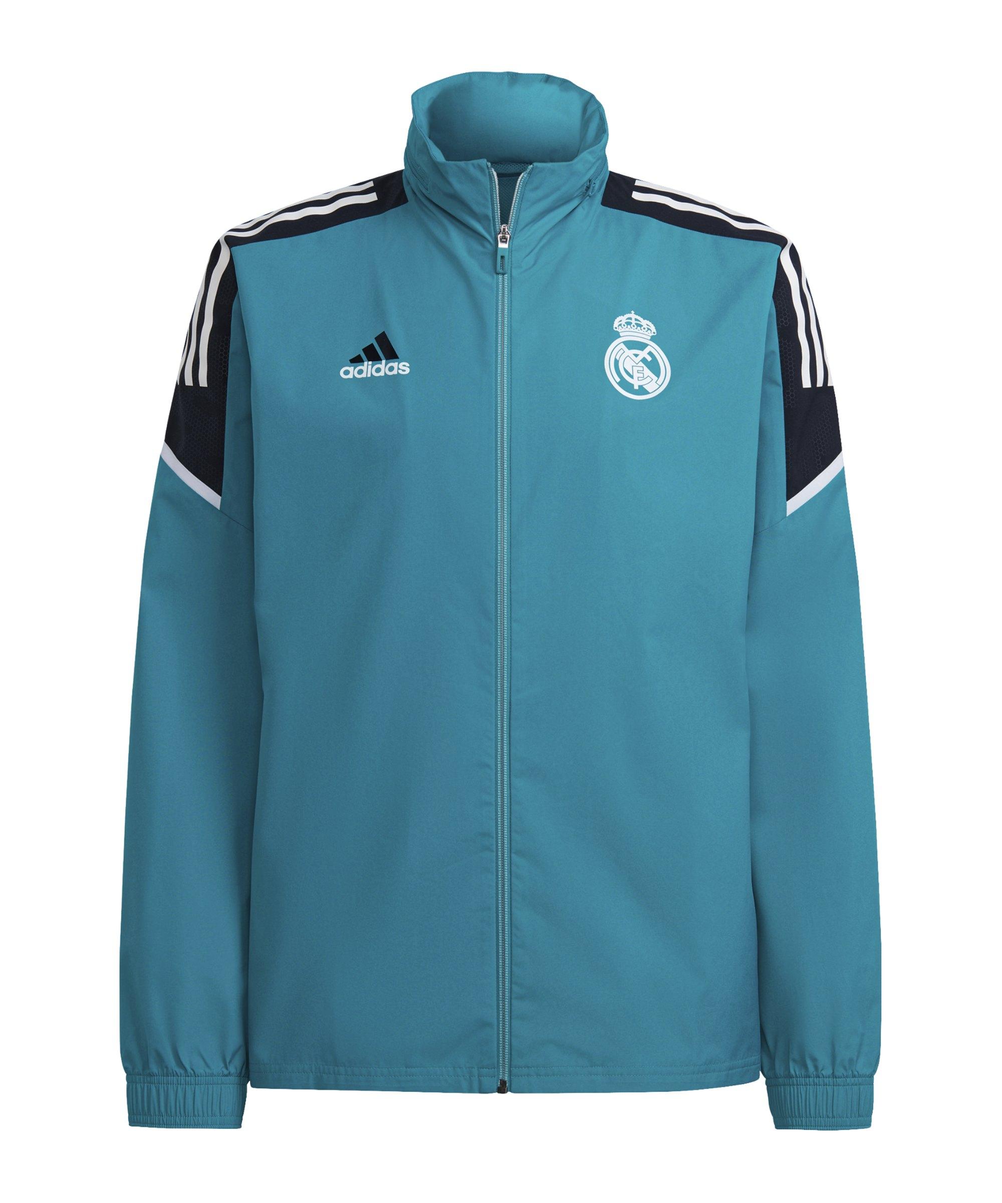 adidas Real Madrid Allwetterjacke Grün - gruen