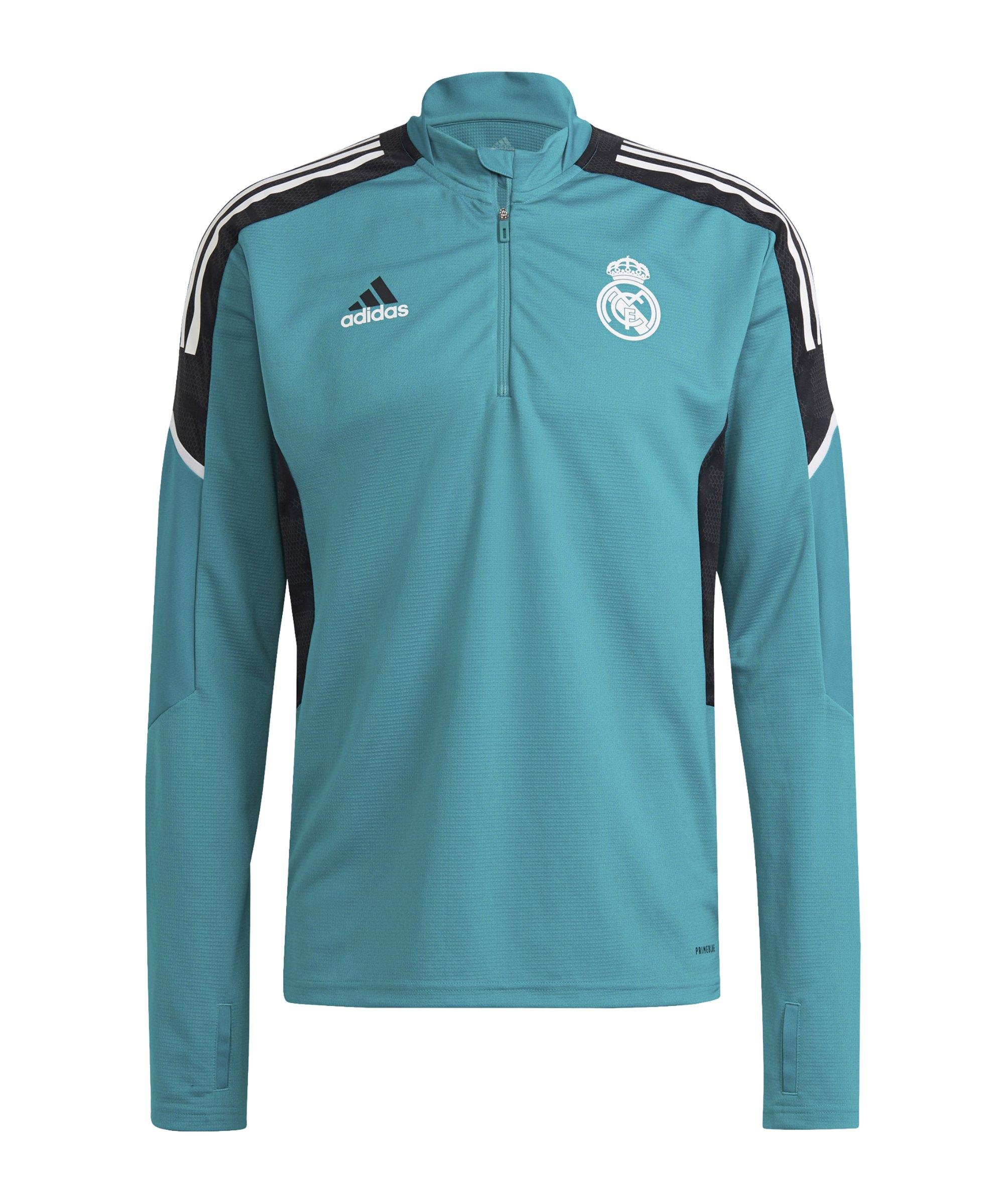 adidas Real Madrid HalfZip Sweatshirt Grün - gruen