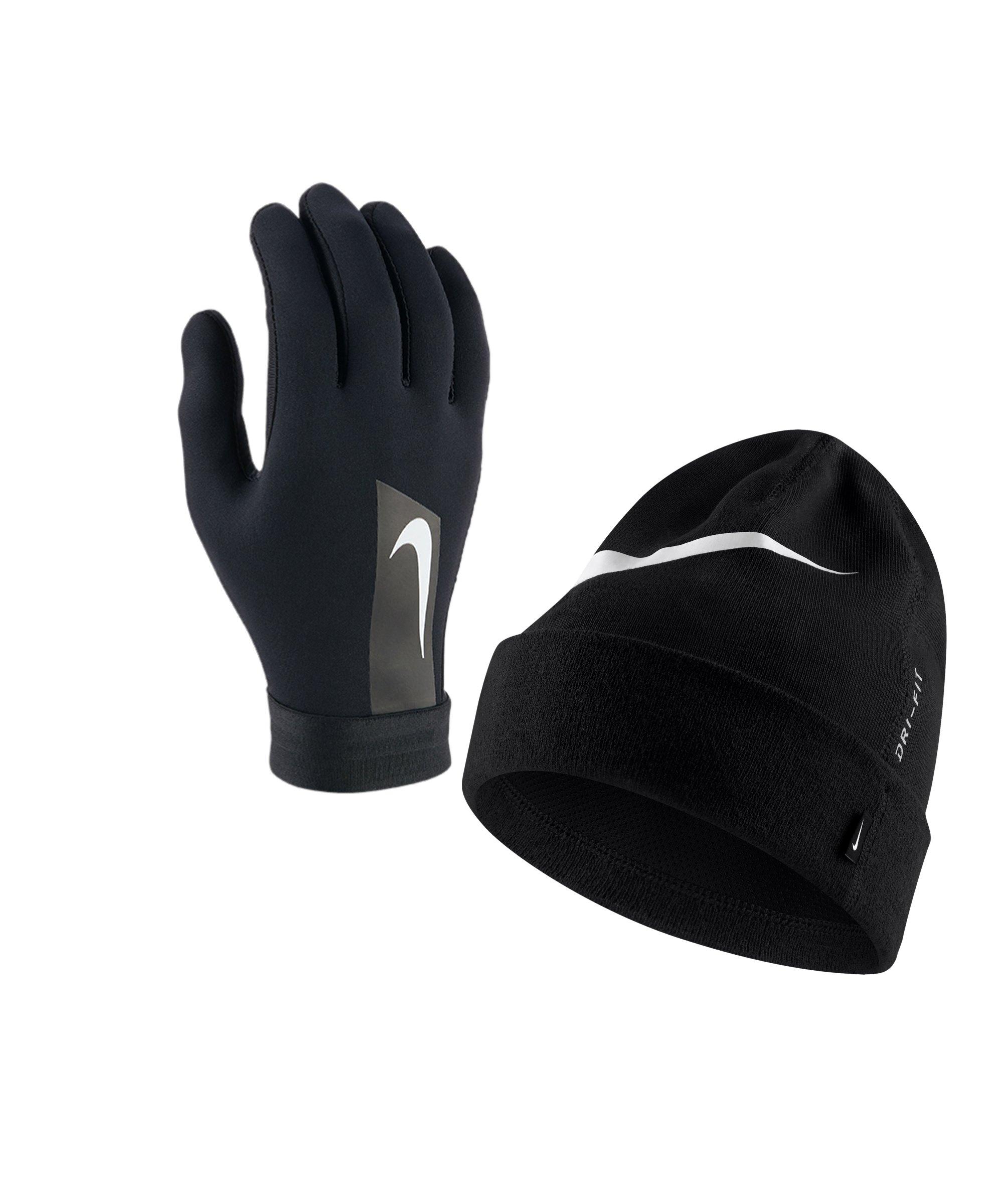Nike 2er Winter Set Handschuh + Beanie Schwarz - schwarz
