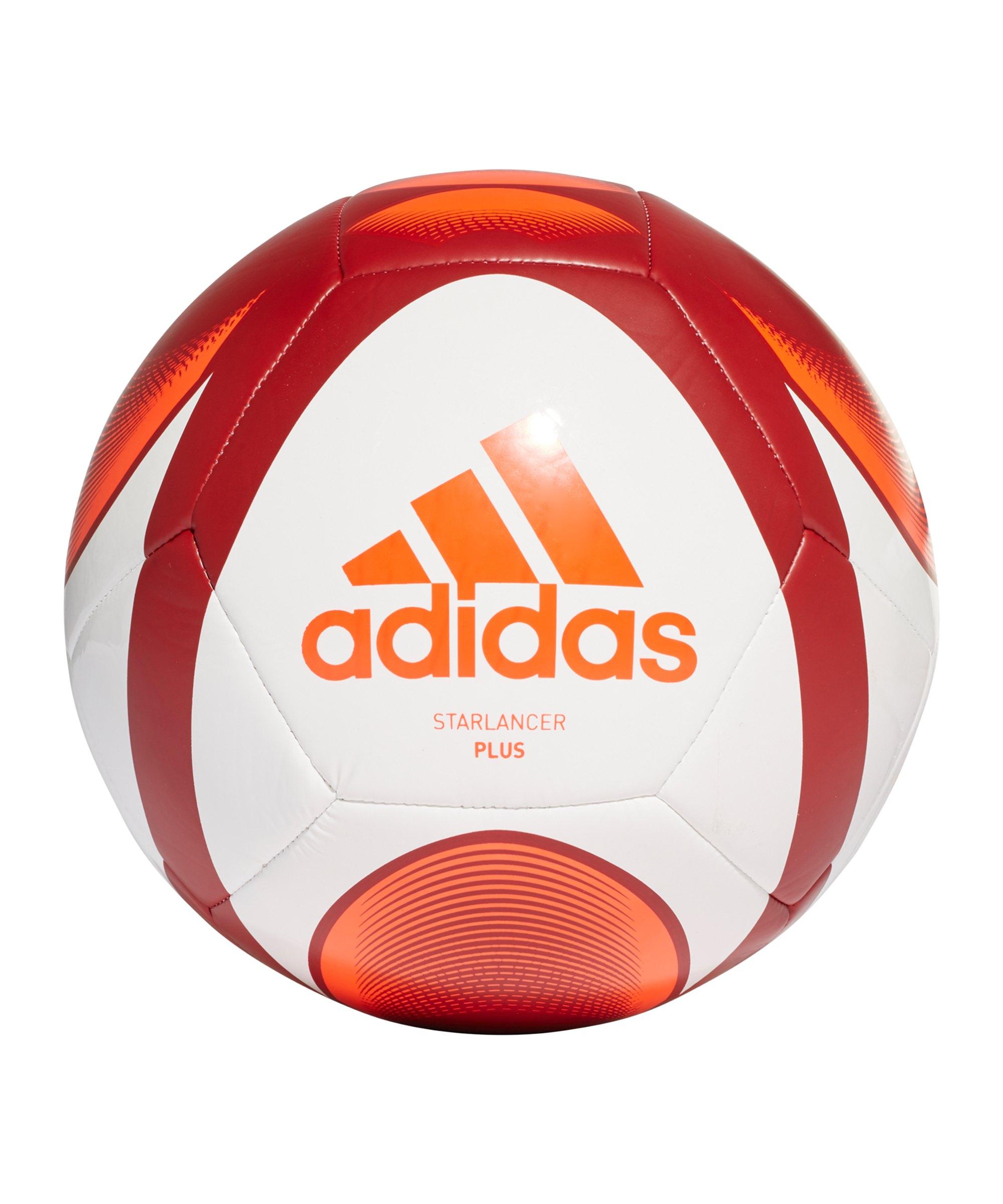 adidas Starlancer Plus Fussball Weiss Rot - weiss