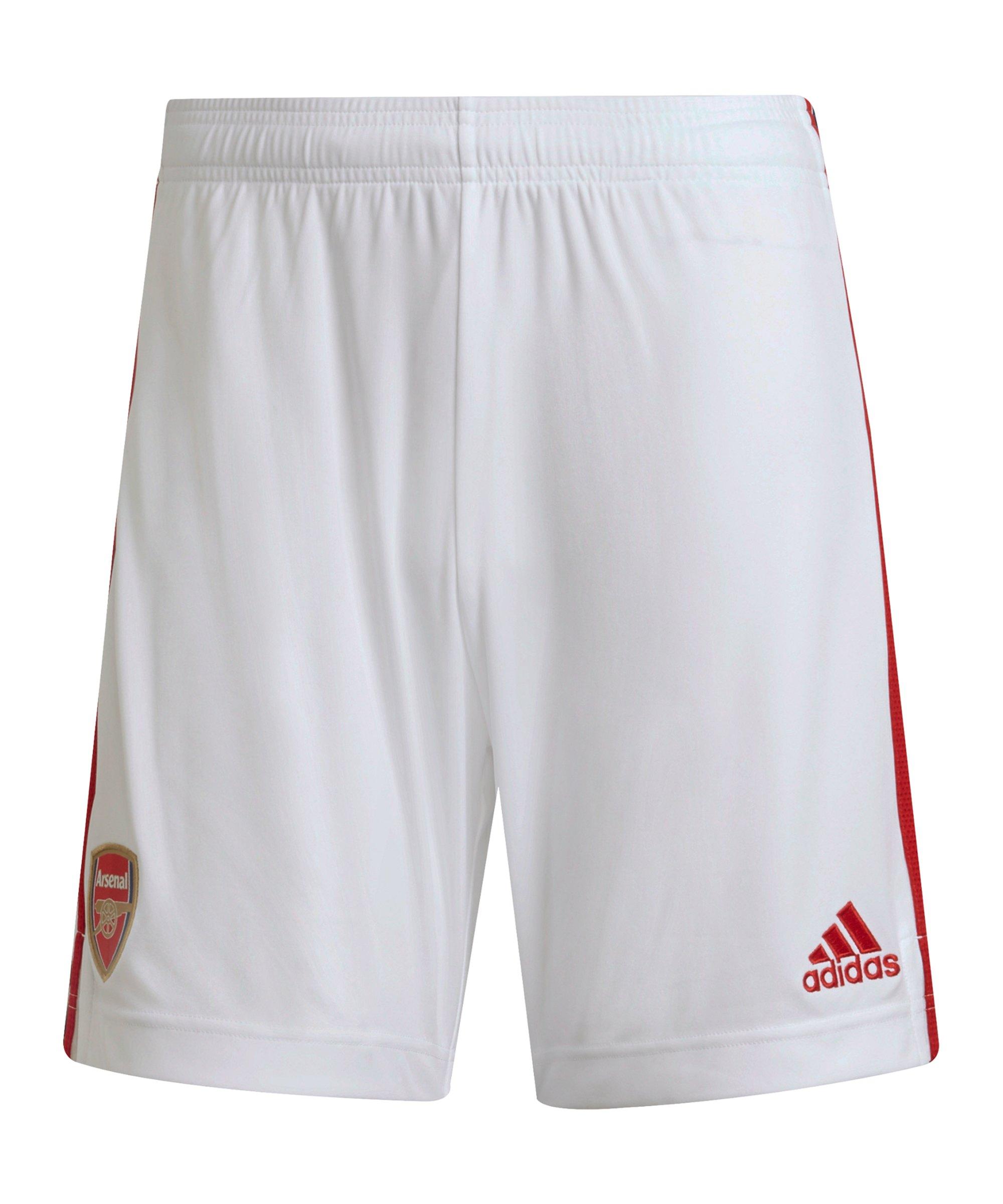 adidas FC Arsenal London Short Home 2021/2022 Weiss - weiss