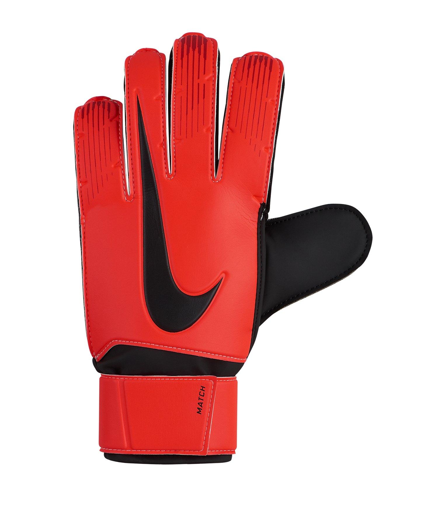 Nike Match Torwarthandschuh Rot Schwarz F657 - rot