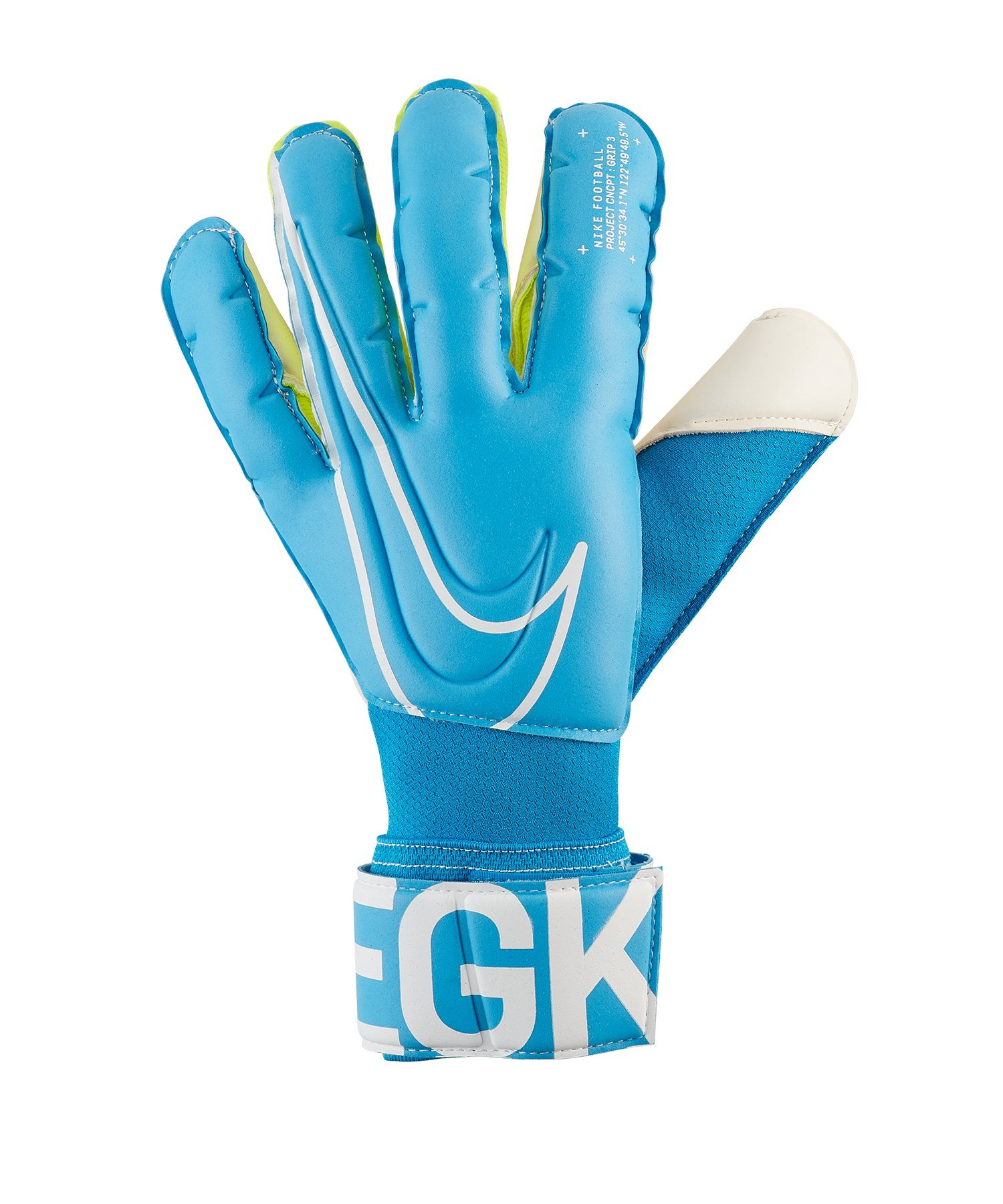 Nike Grip 3 Torwarthandschuh Blau F486 - blau