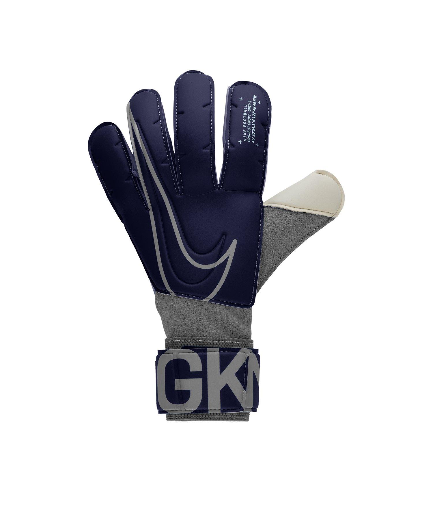 Nike Grip 3 Torwarthandschuh Blau F492 - blau