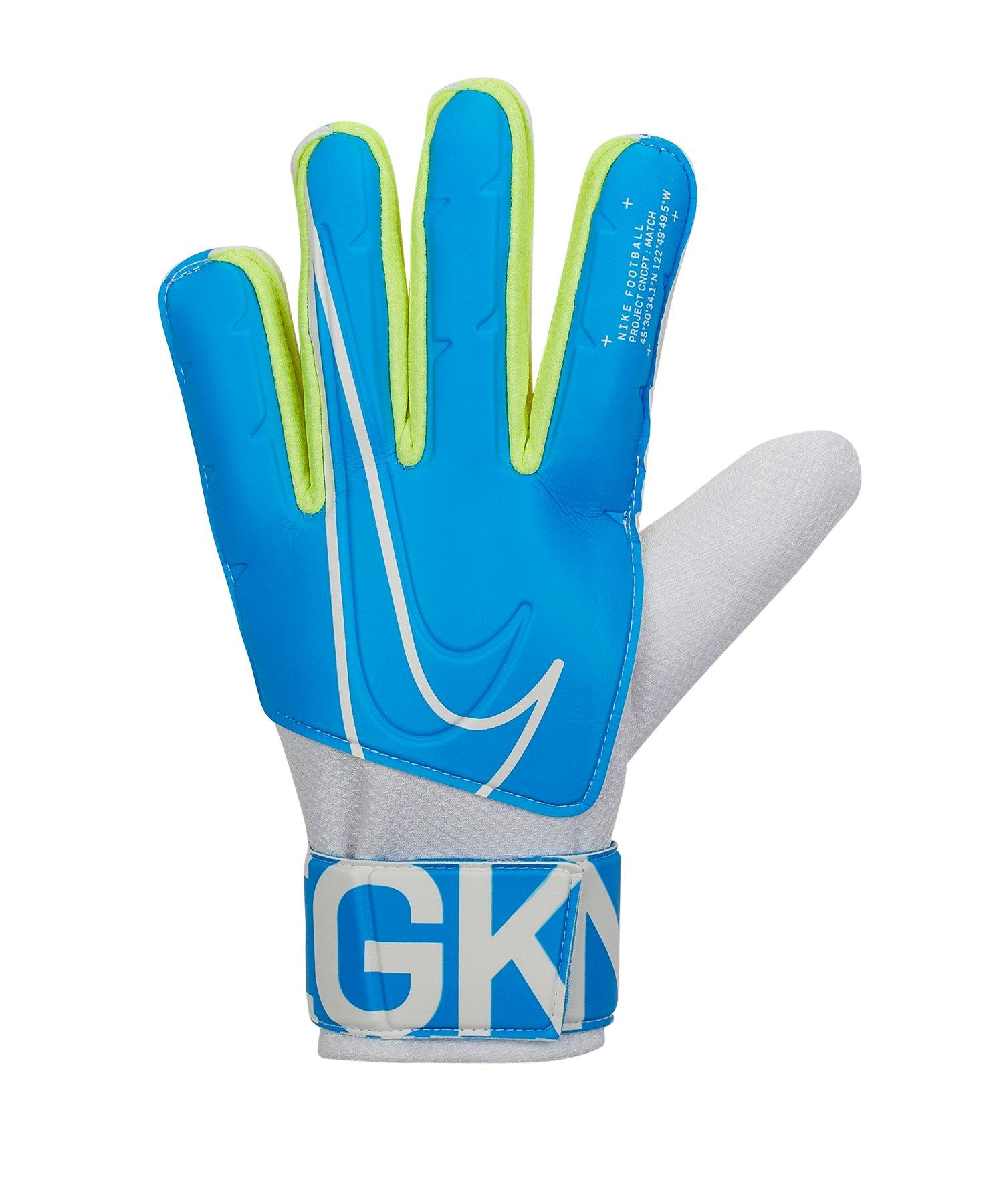 Nike Match Torwarthandschuh Blau F486 - blau