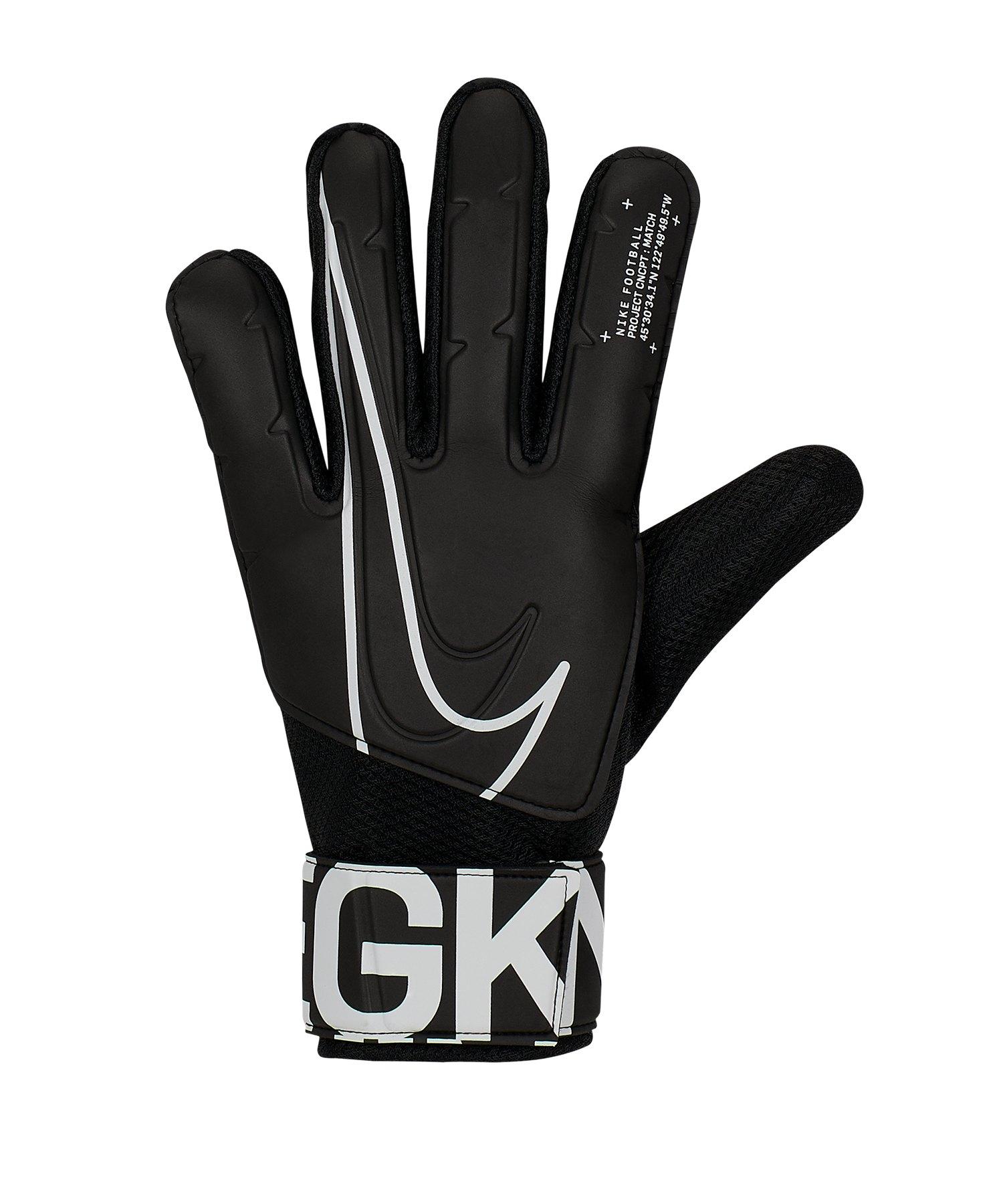 Nike Match Torwarthandschuh Schwarz F010 - schwarz