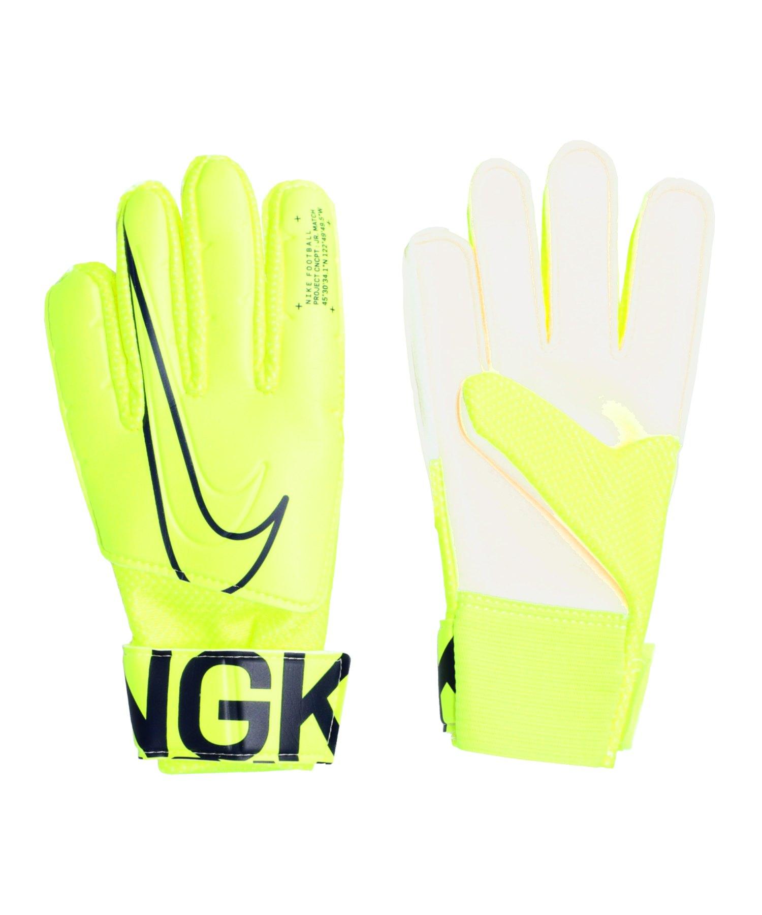 Nike Match Torwarthandschuh Kids Gelb F702 - gelb