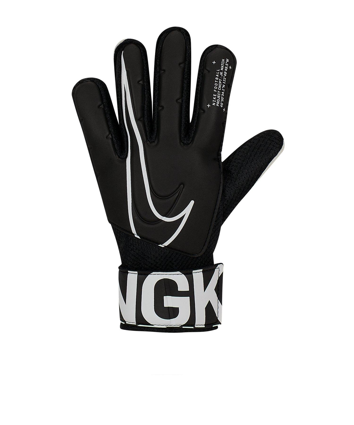 Nike Match Torwarthandschuh Kids Schwarz F010 - schwarz