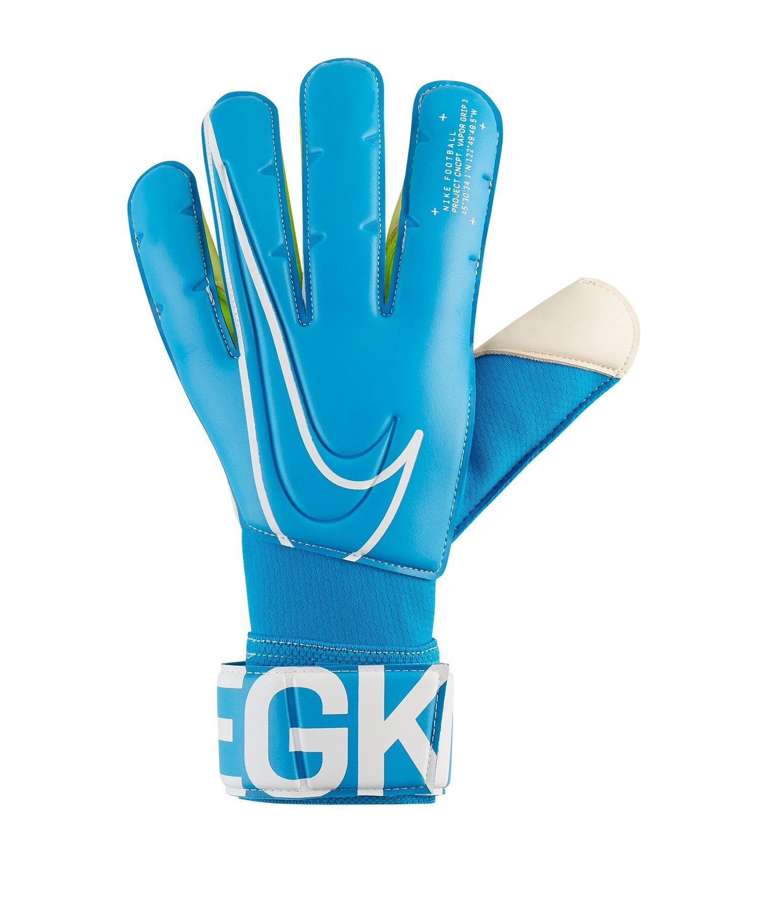 Nike Vapor Grip 3 Torwarthandschuh Blau F486 - blau