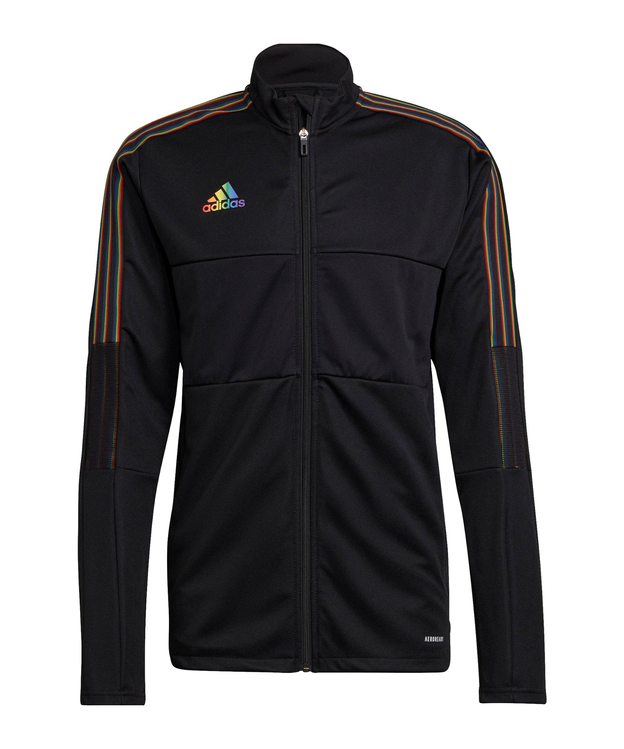 adidas Tiro Pride Trainingsjacke Schwarz - schwarz