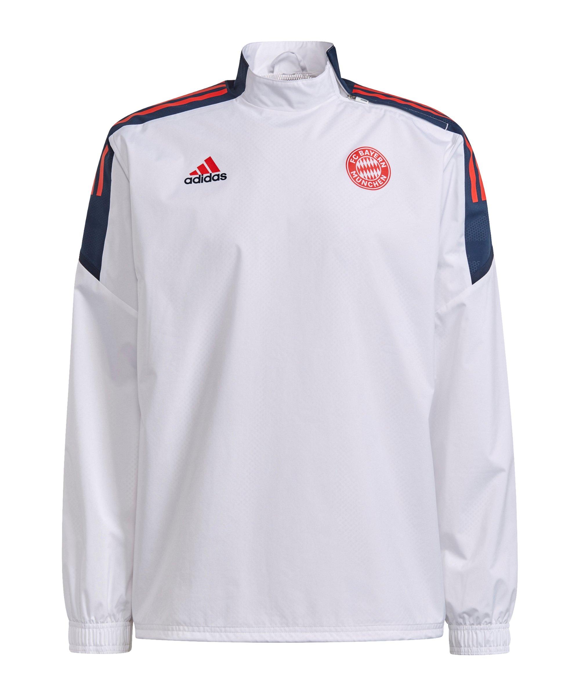adidas FC Bayern München Sweatshirt Weiss - weiss