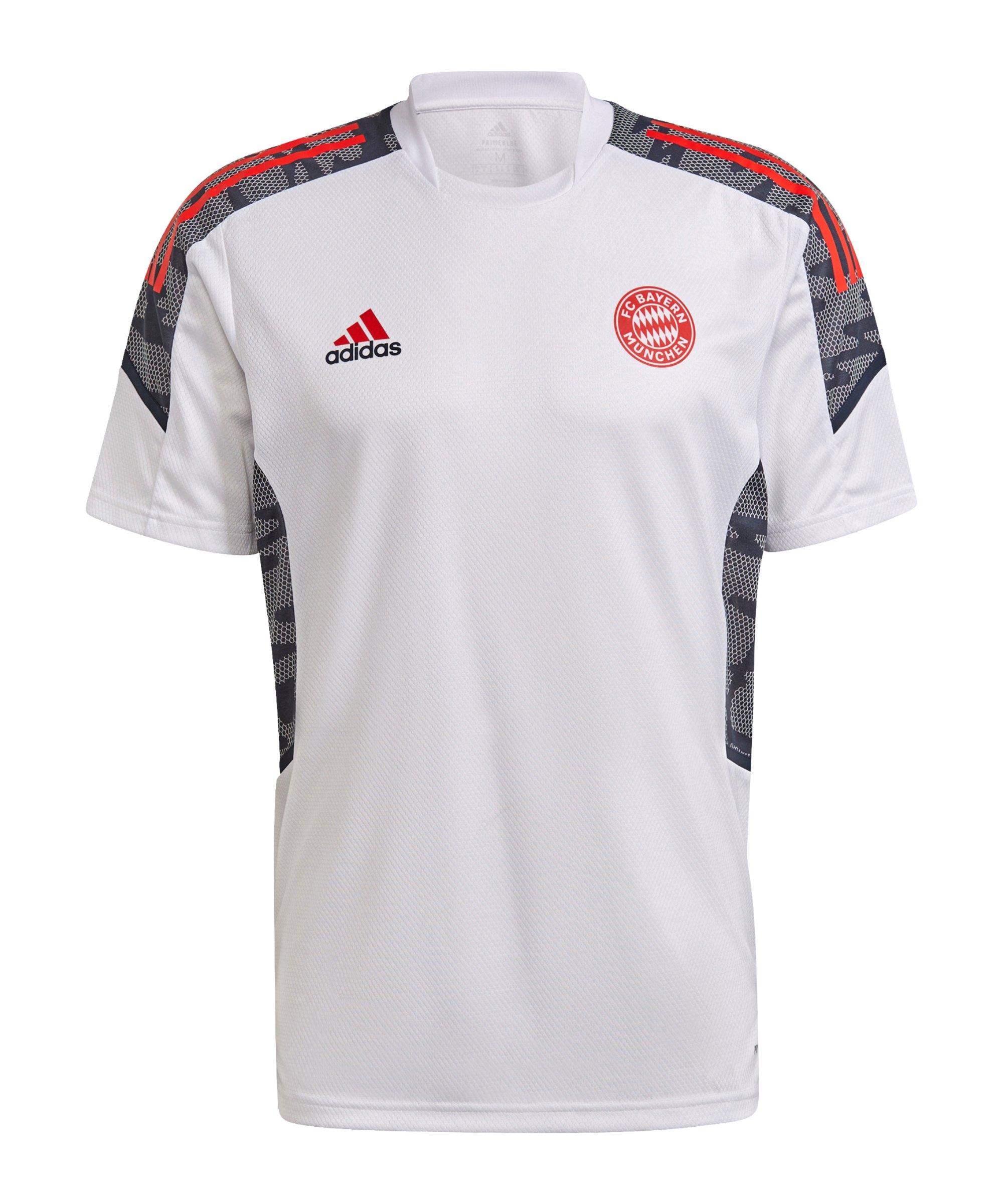 adidas FC Bayern München Trainingsshirt Weiss - weiss